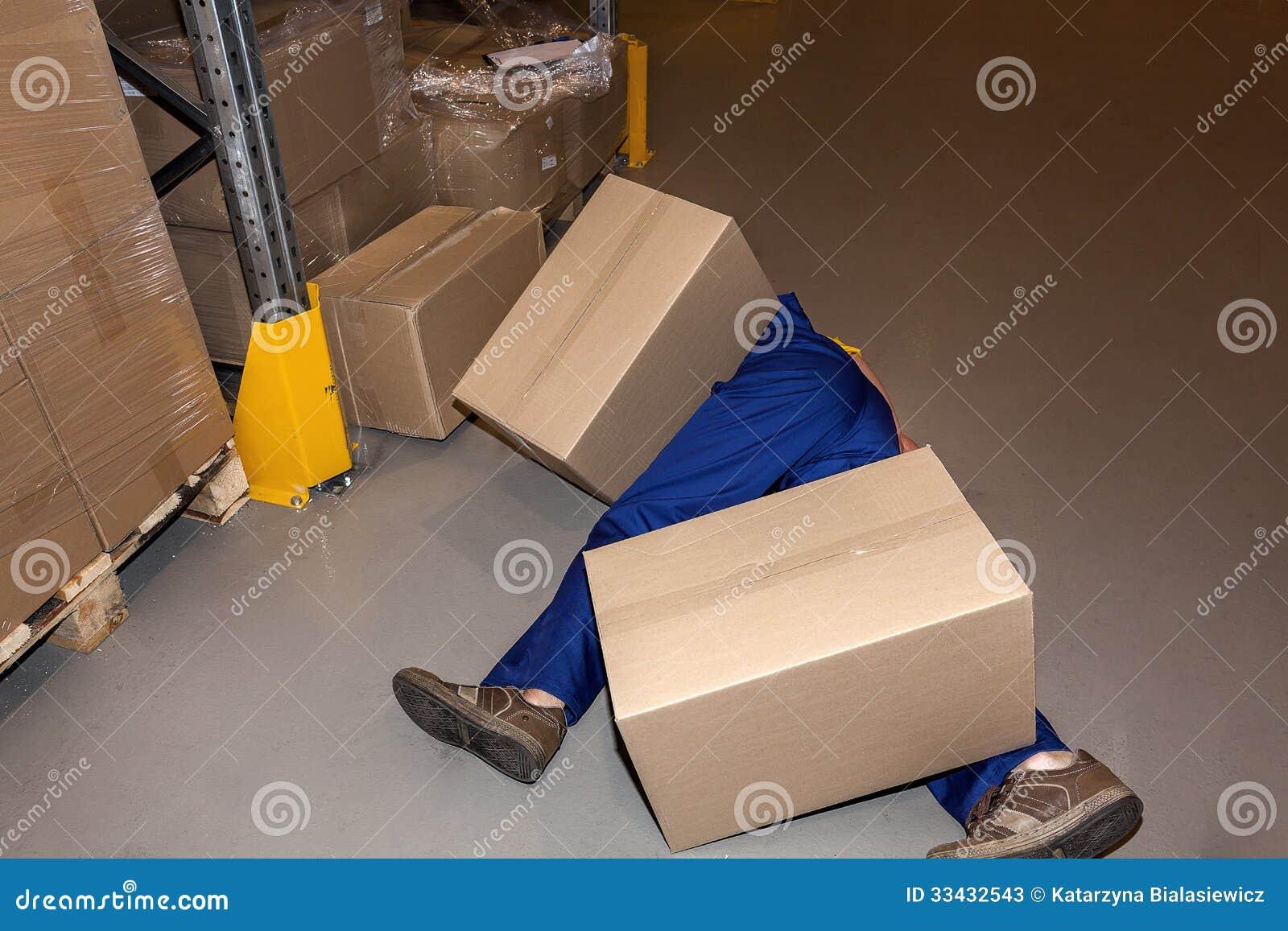 accident du travail image stock image du danger conteneur 33432543. Black Bedroom Furniture Sets. Home Design Ideas