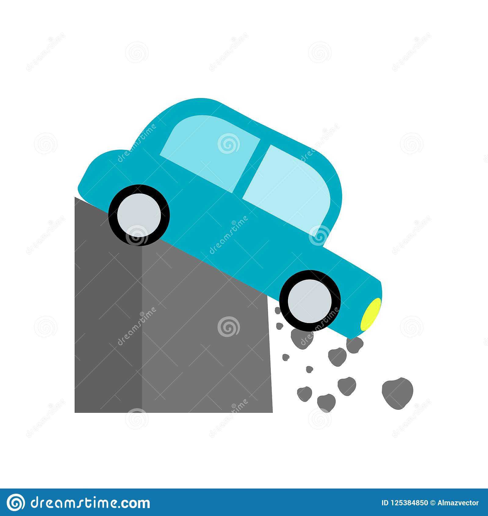 Accident Icon Vector Isolated On White Background Accident Sign