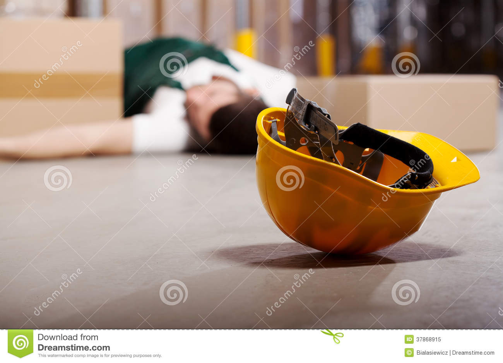 Accidente peligroso durante trabajo