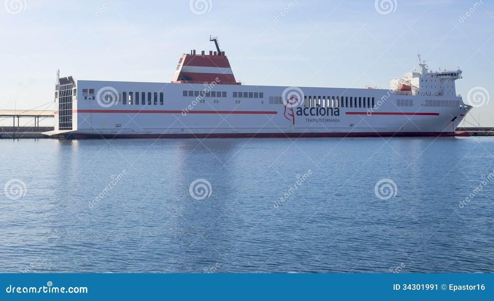 AccionaKreuzfahrtFährenTransportSchiff Nach Algerien
