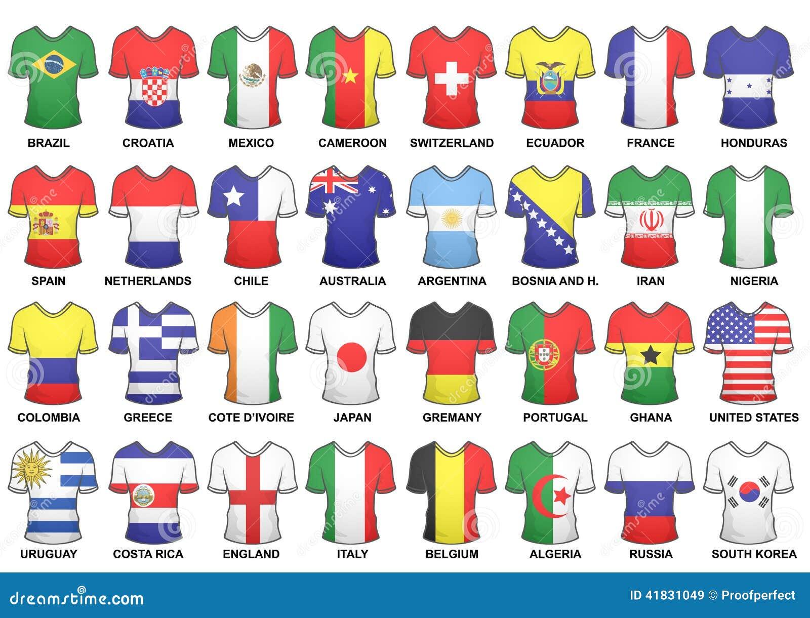 Accomplissez les chemises 2014 de coupe du monde de Fifa