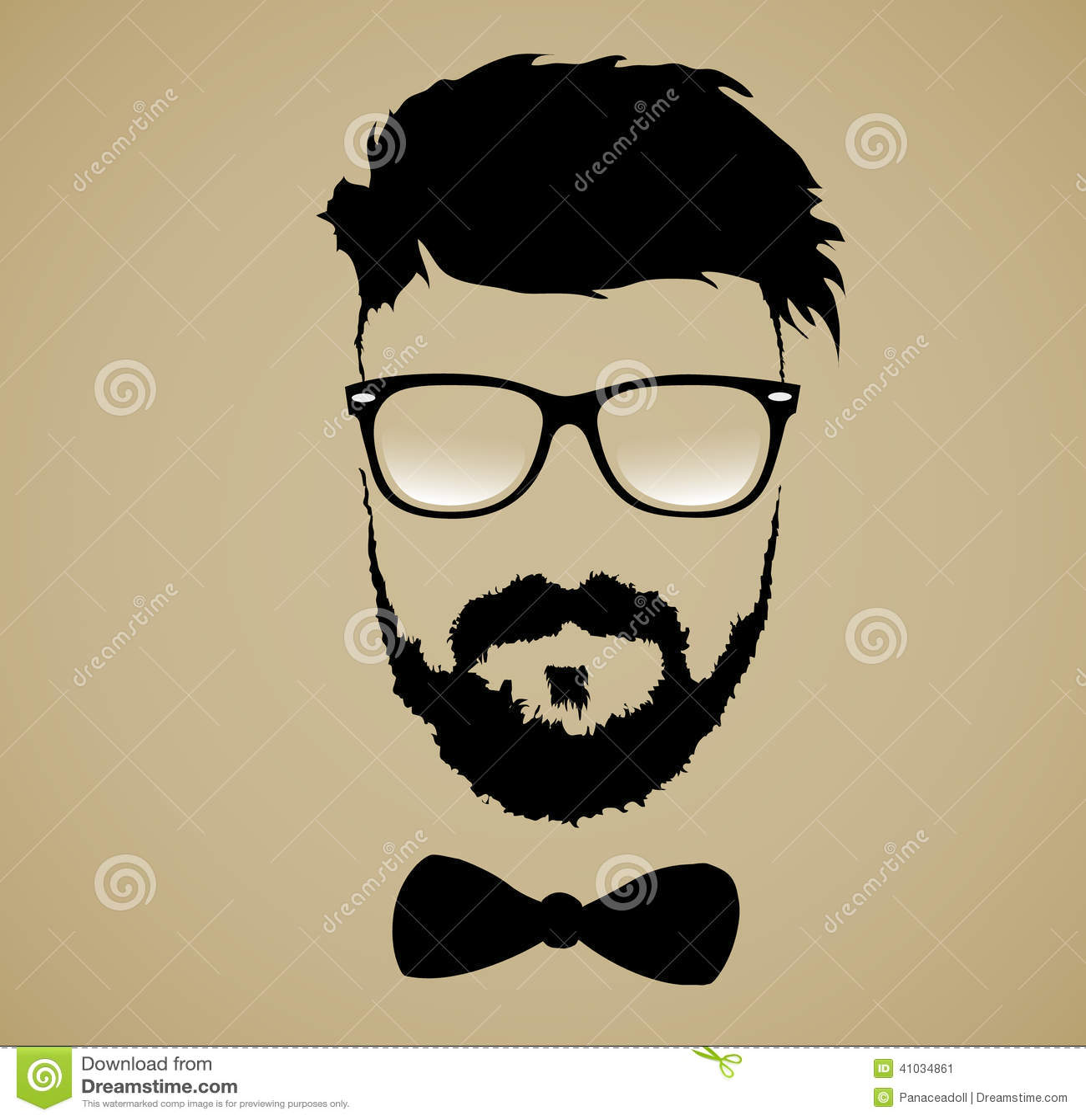 Acconciatura di vetro della barba dei baffi