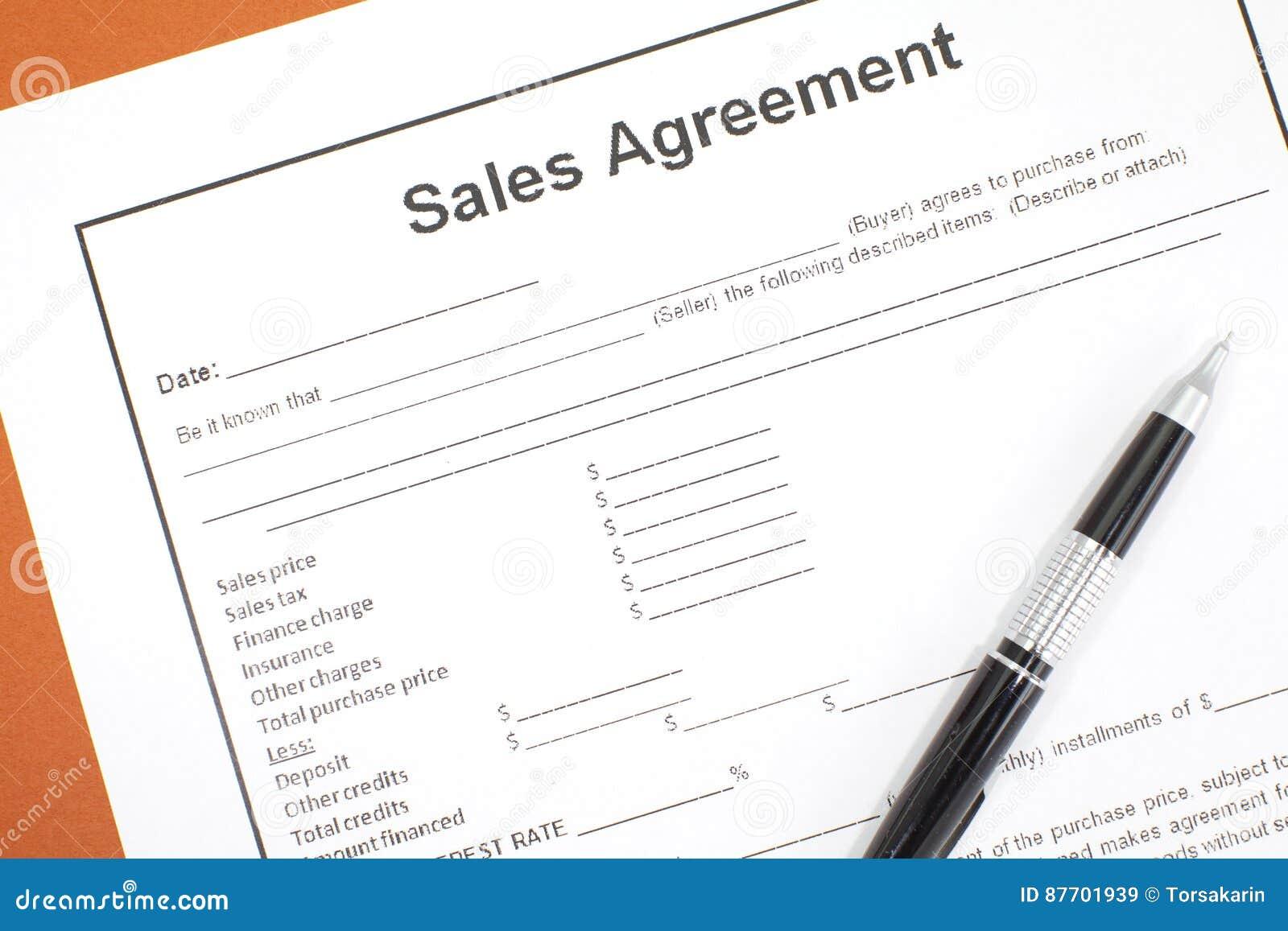Accord de ventes