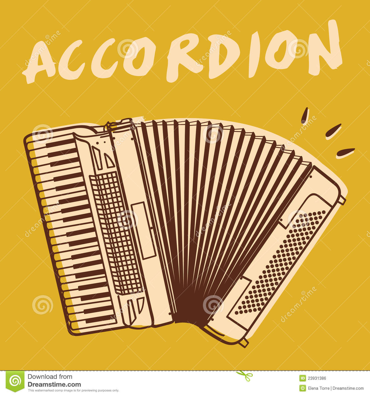 accordion vector stock vector  image of band  music  jazz