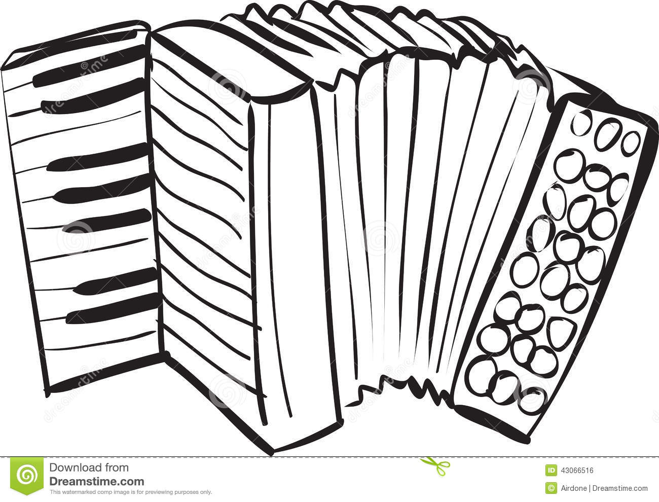 Accordion Doodle Stock Vector Image 43066516