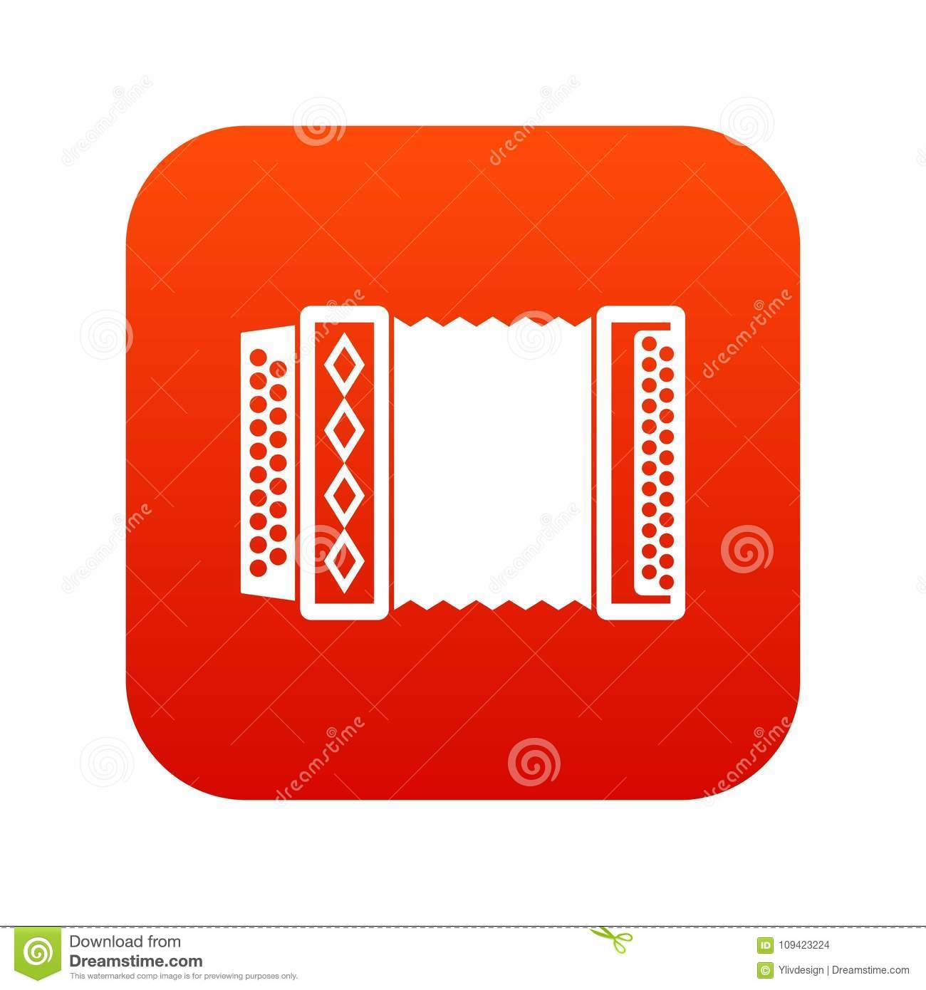 Accordion icon digital red