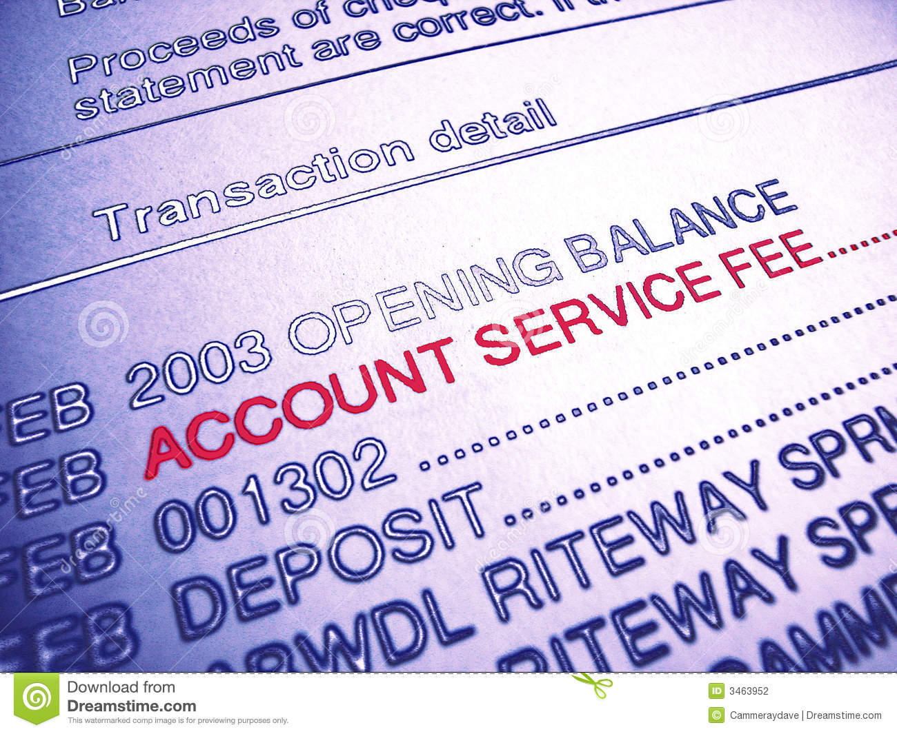 Account fee service