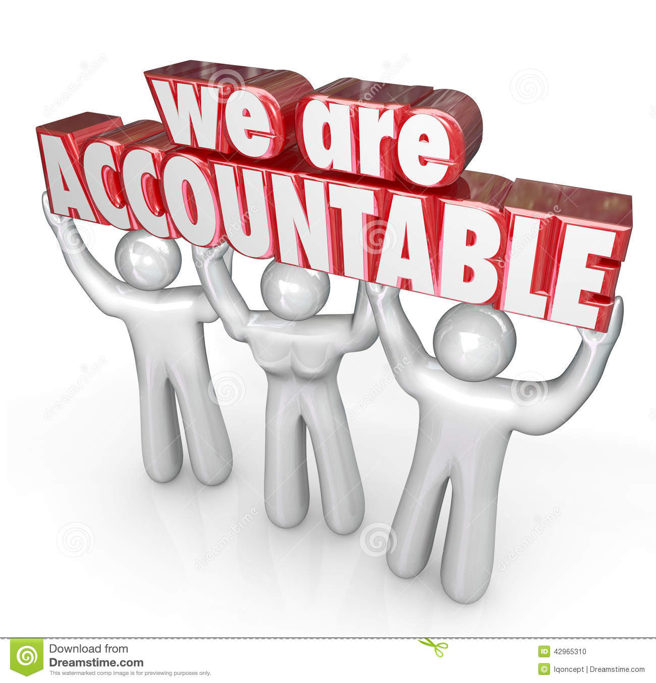 We Are Accountable Team Lifting Words Taking ...