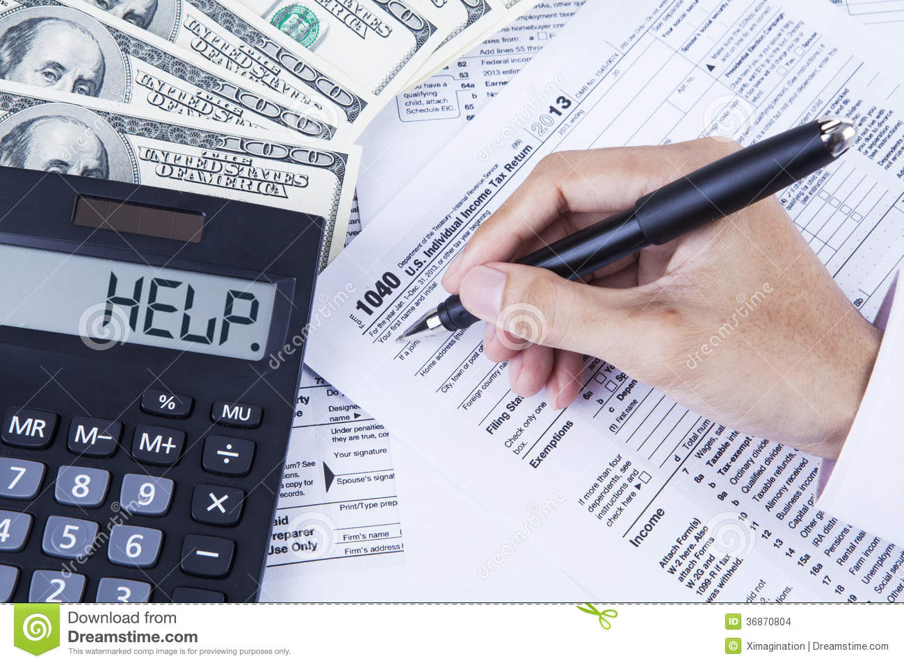 Accountant Filling The Tax Forms Stock Images - Image ...