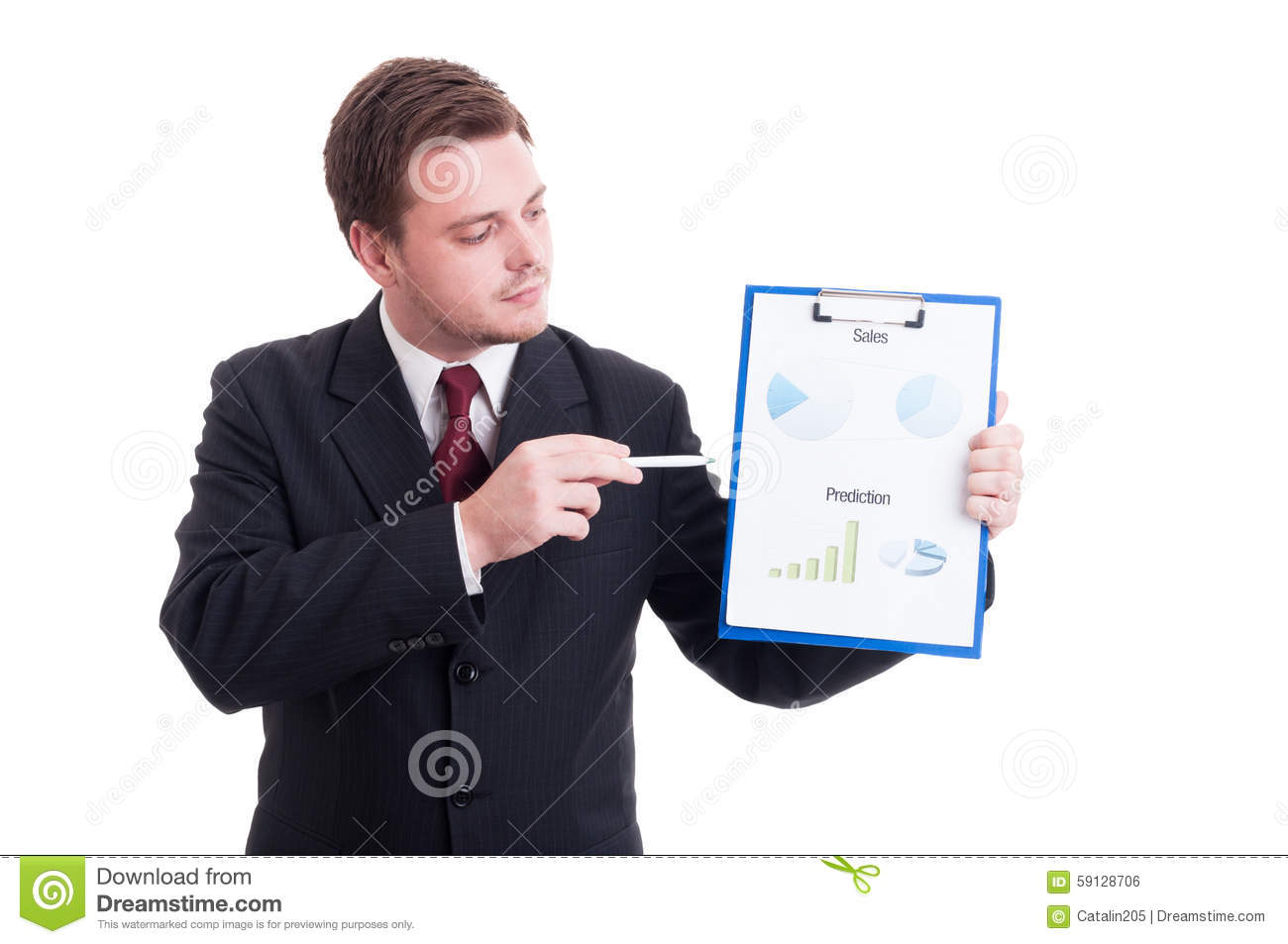 Accountant Or Financial Manager Showing Charts And Statistics ...
