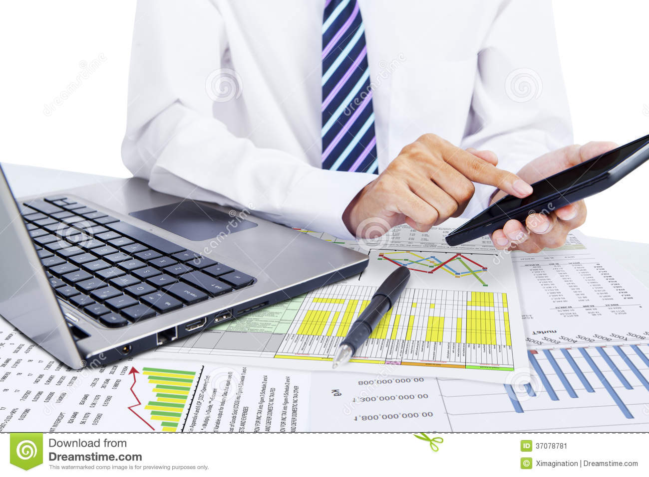 Accountant Using A Calculator Stock Image Image 37078781