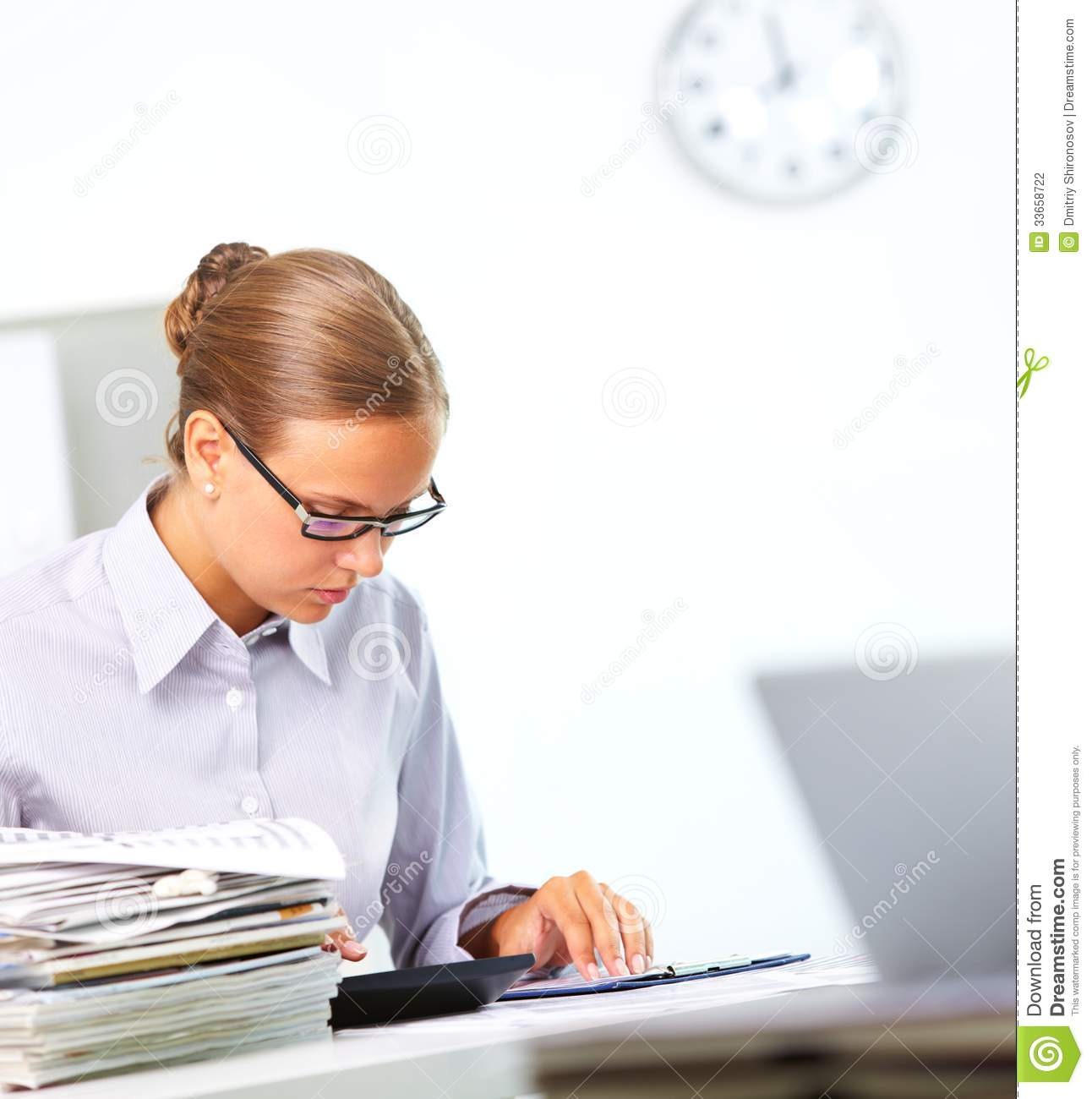 Accountant At Work Stock Photography Image 33658722