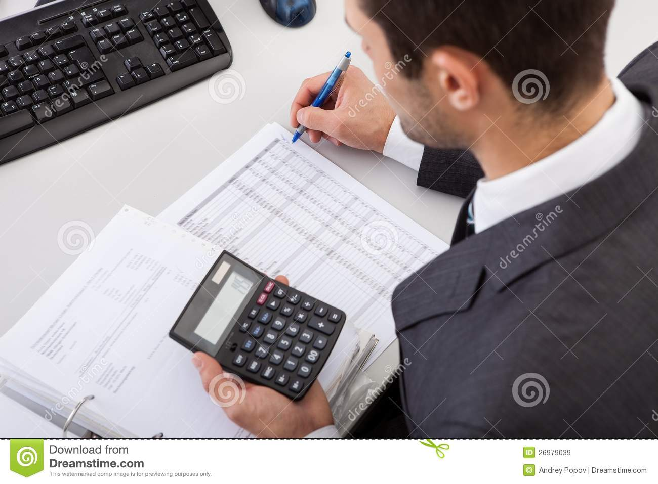 Accountant Working At The Office Royalty Free Stock Images - Image ... Female Accountant Clipart
