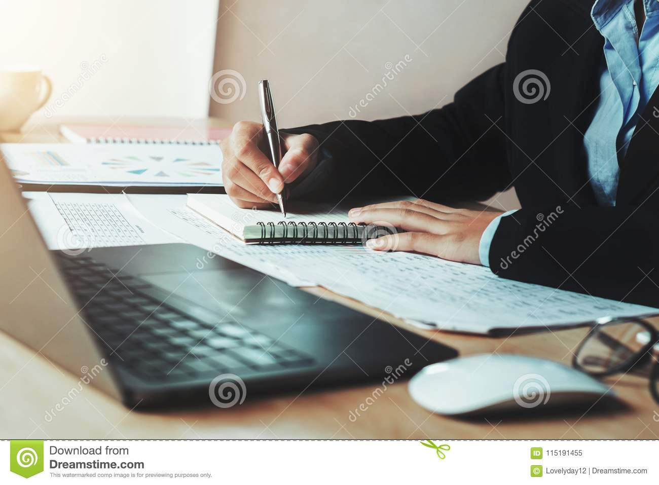 accountant working in office. concept finance