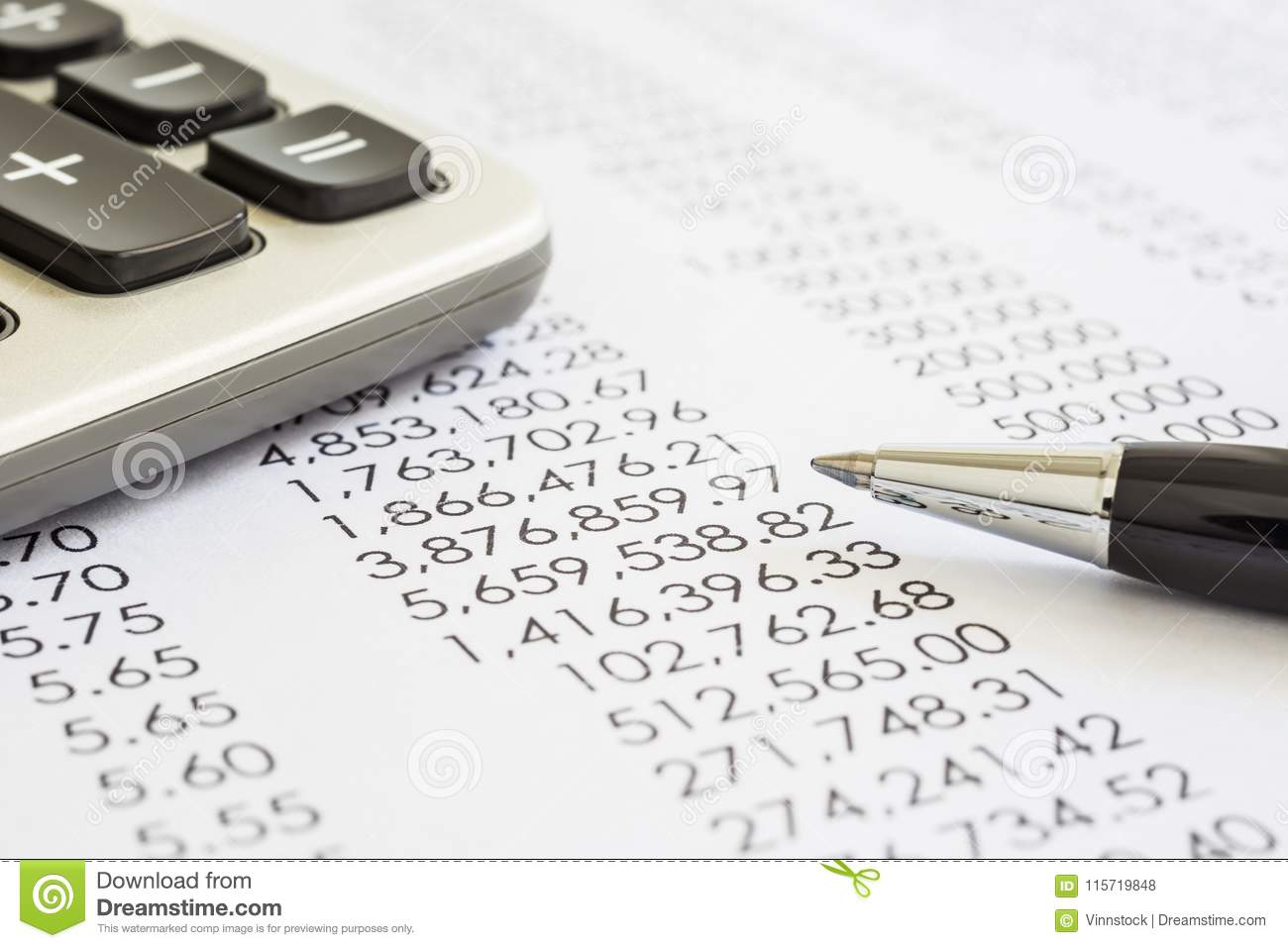 Accounting and audit evaluation of financial statements.