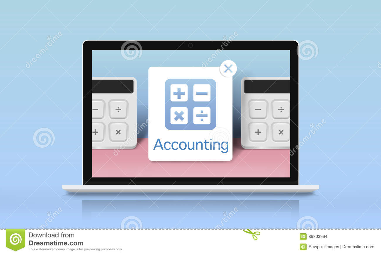 accounting banking investment budget calculator concept stock