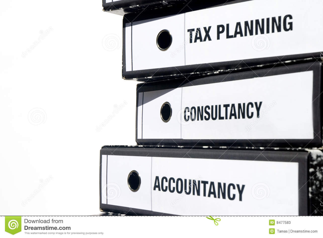 accounting binders stock image image of planning profession 8477583