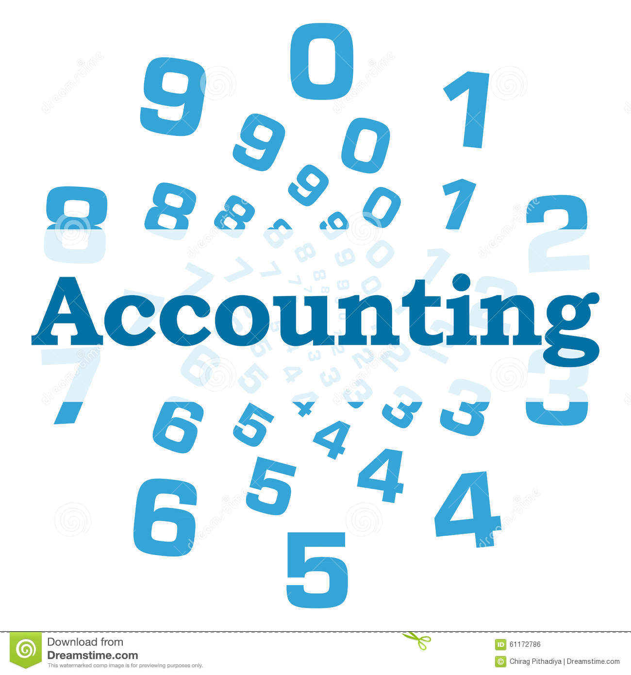 Accounting: Accounting Blue Numbers Circular Stock Illustration