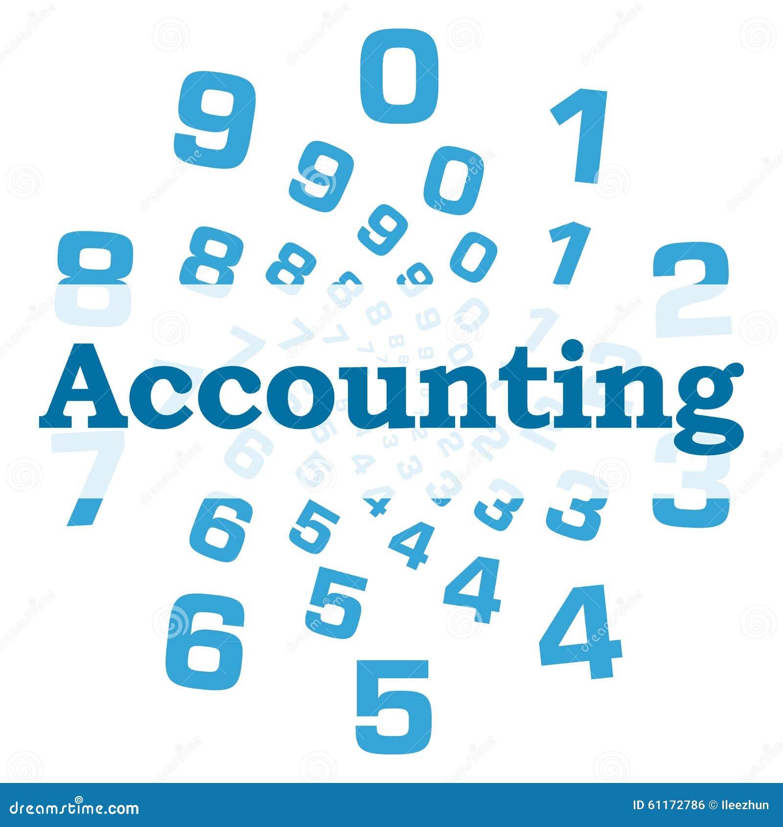 Accounting Blue Numbers Circular Stock Illustration - Illustration
