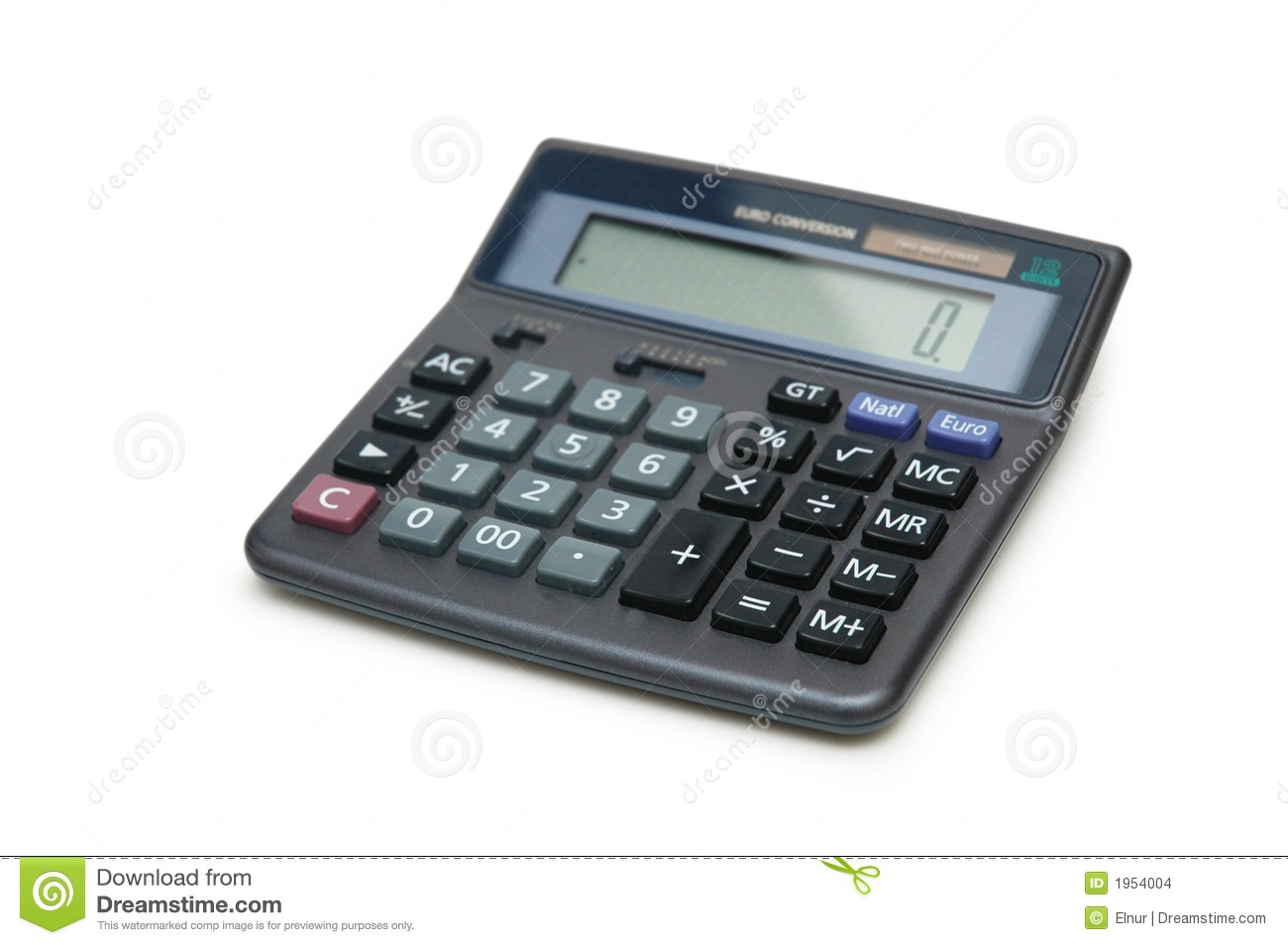Accounting Calculator Isolated Stock Photo Image 1954004