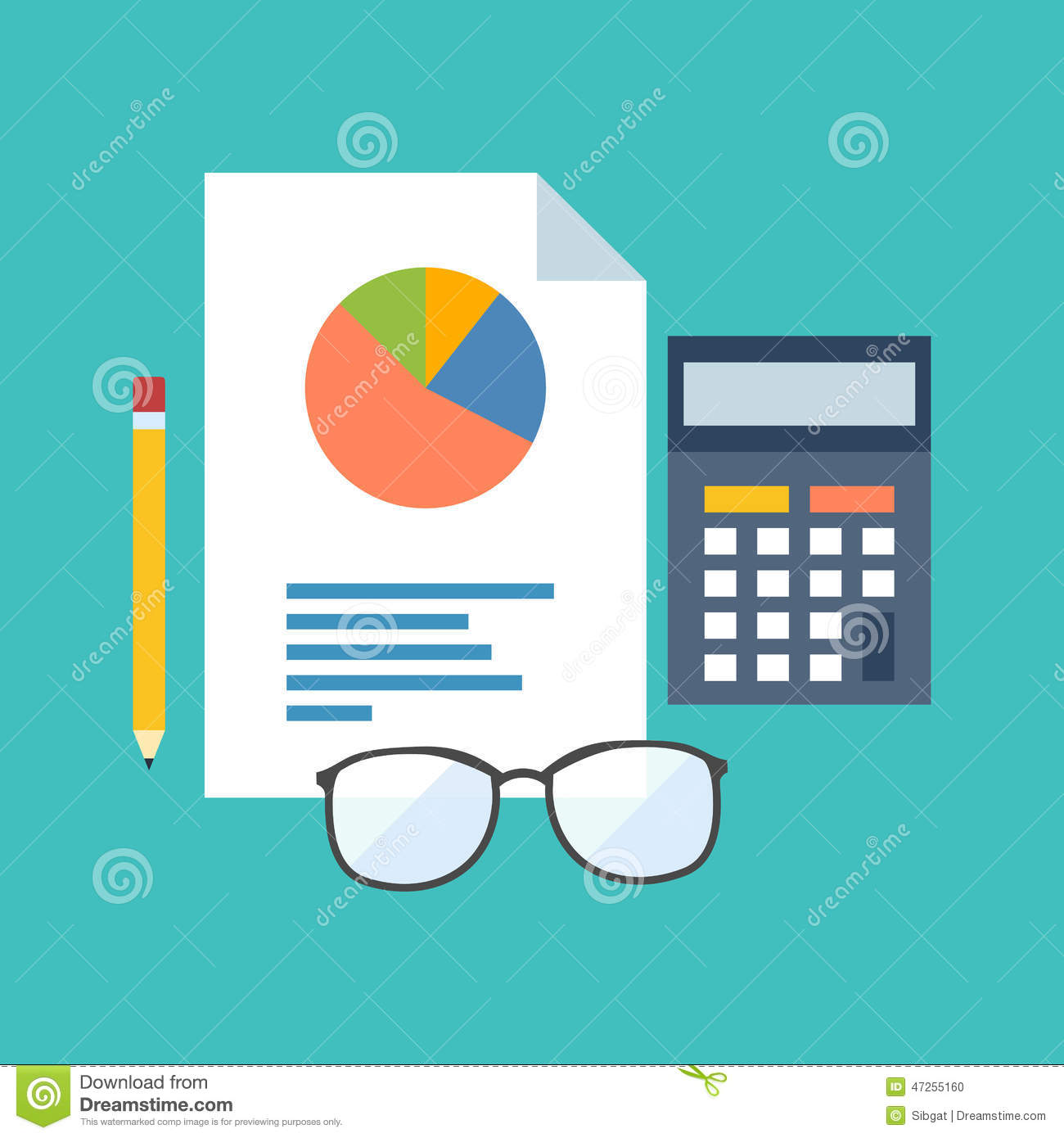 Accounting Concept Flat Design Stylish Stock Vector
