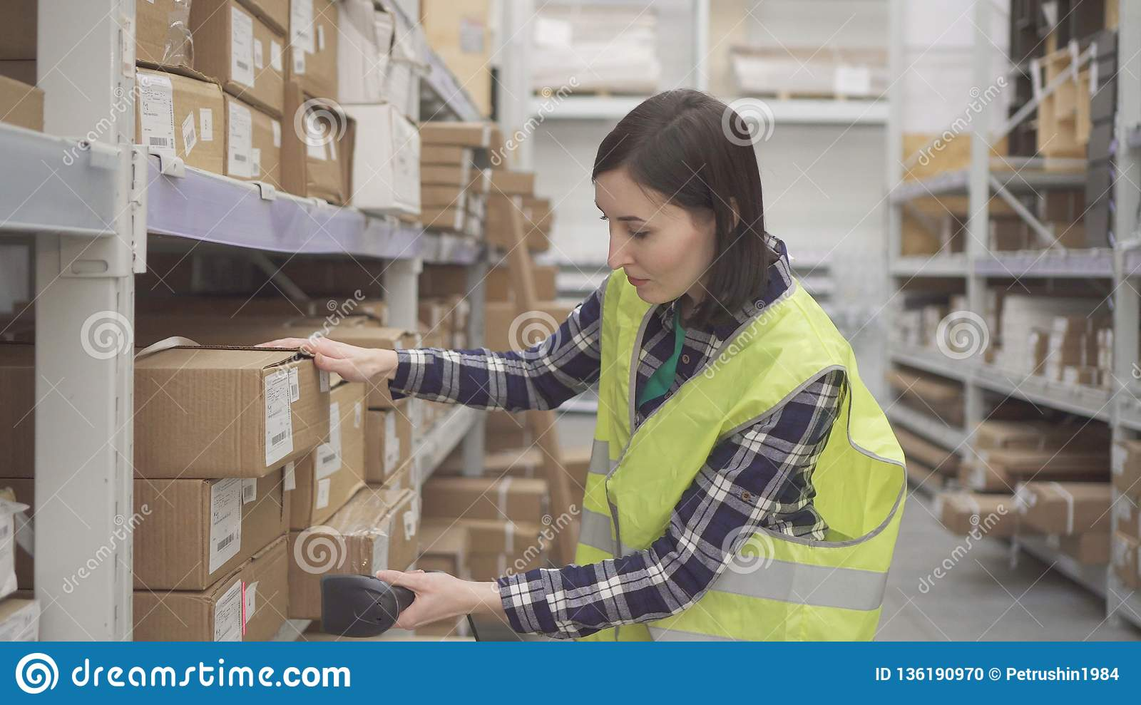 Accounting Of Goods In The Warehouse With Barcode Scanner