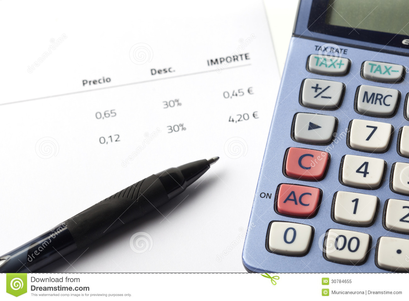 Accounting And Tax Royalty Free Stock Photo - Image: 30784655