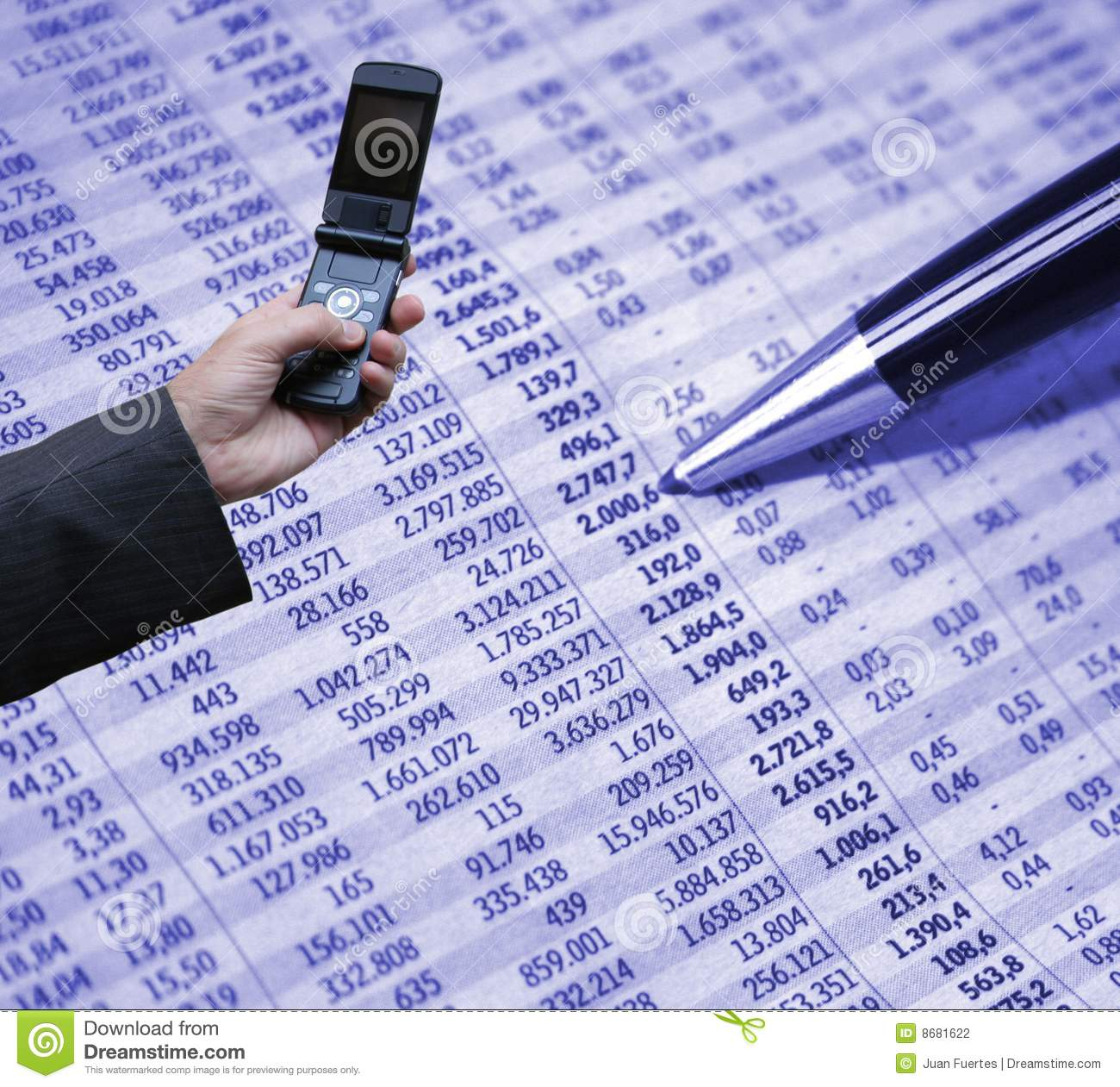 accounting and technology stock photography image 8681622