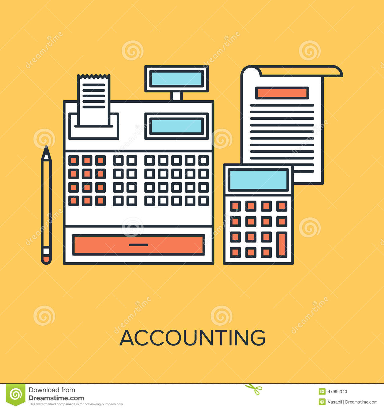 Illustration music accounting