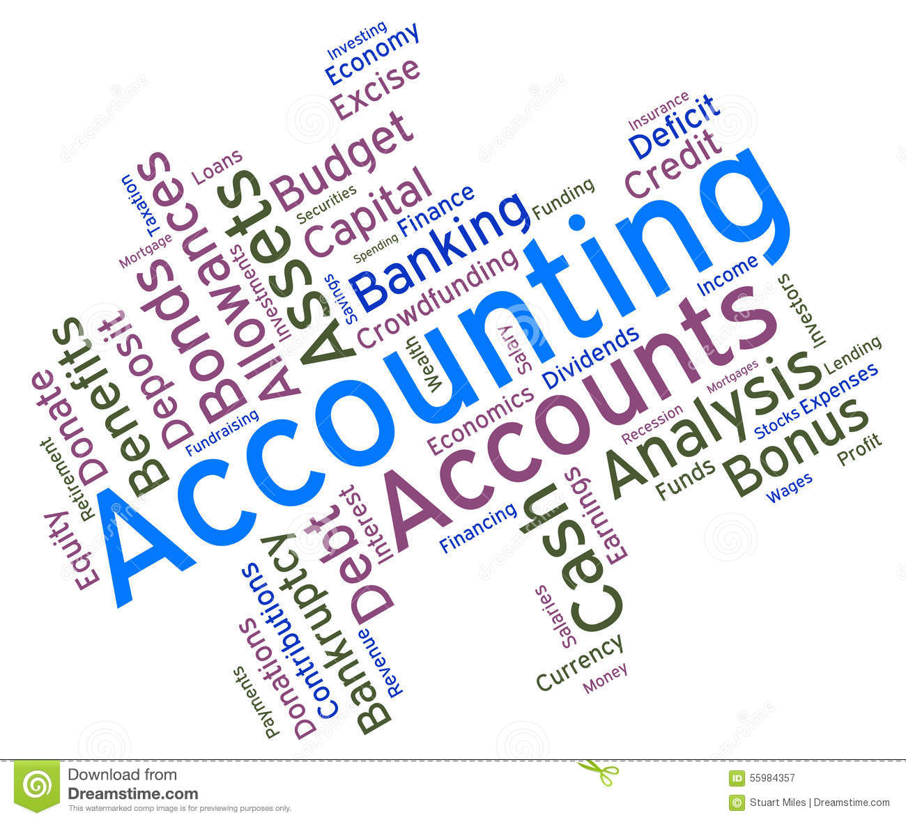 Accounting Words Represents Balancing The Books And