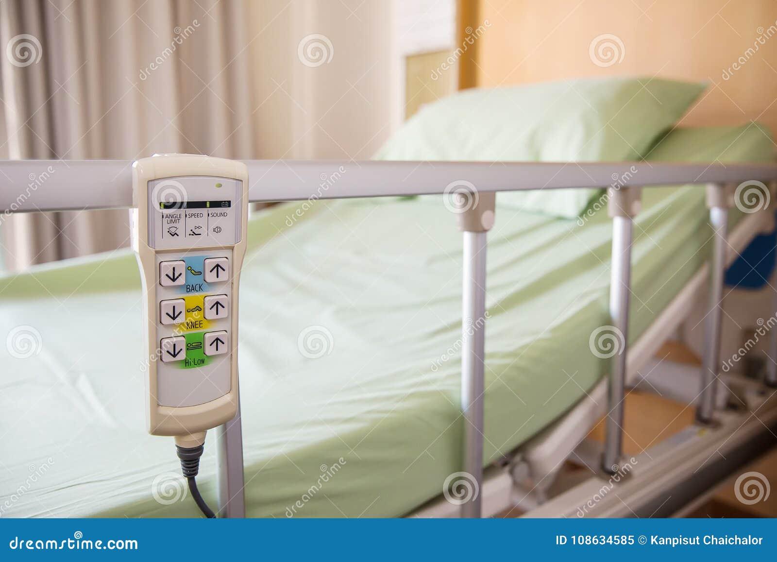 accrocher à télécommande de lit d'hôpital sur le rail de lit