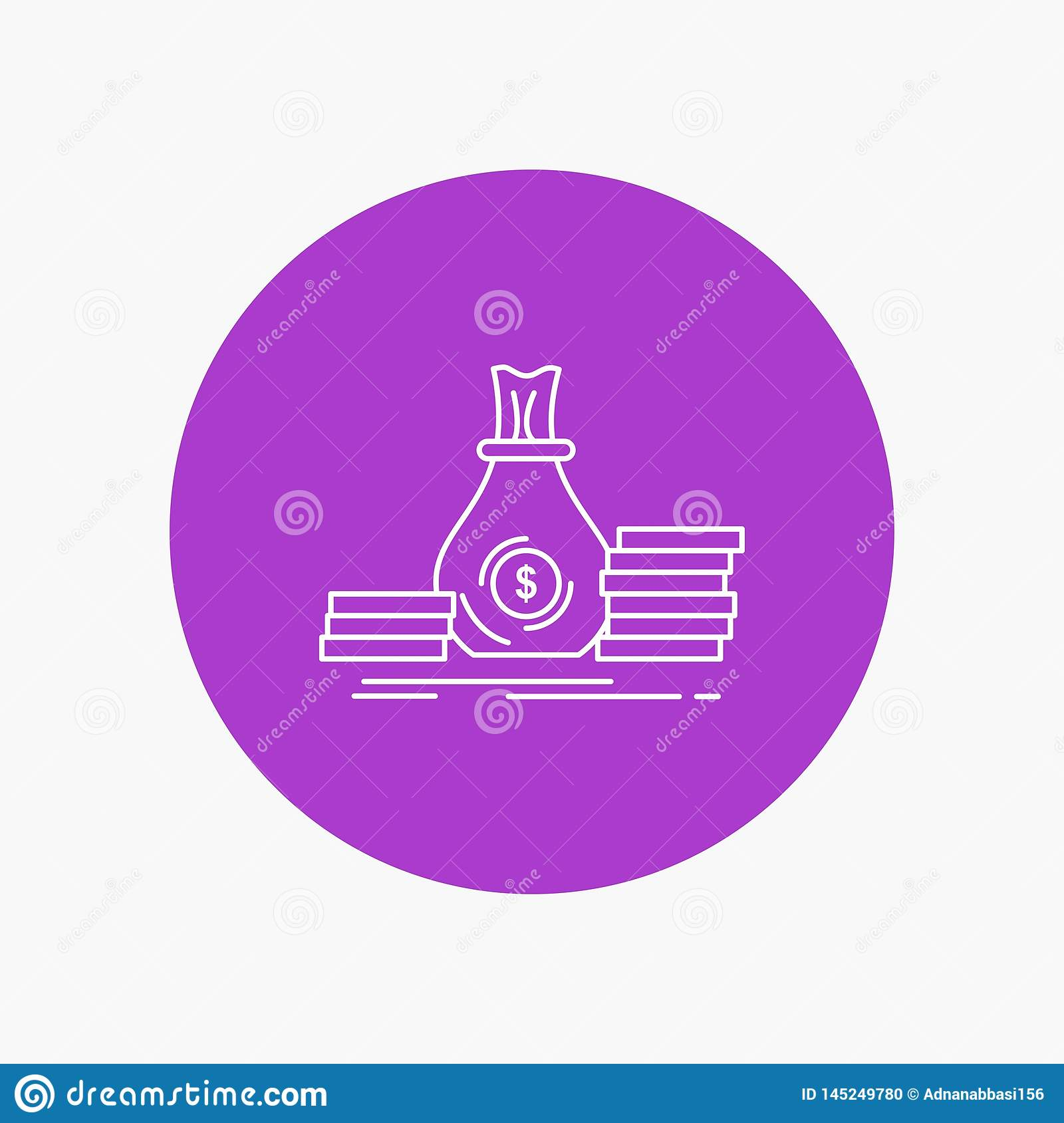 Accumulation, Bag, Investment, Loan, Money White Line Icon ...