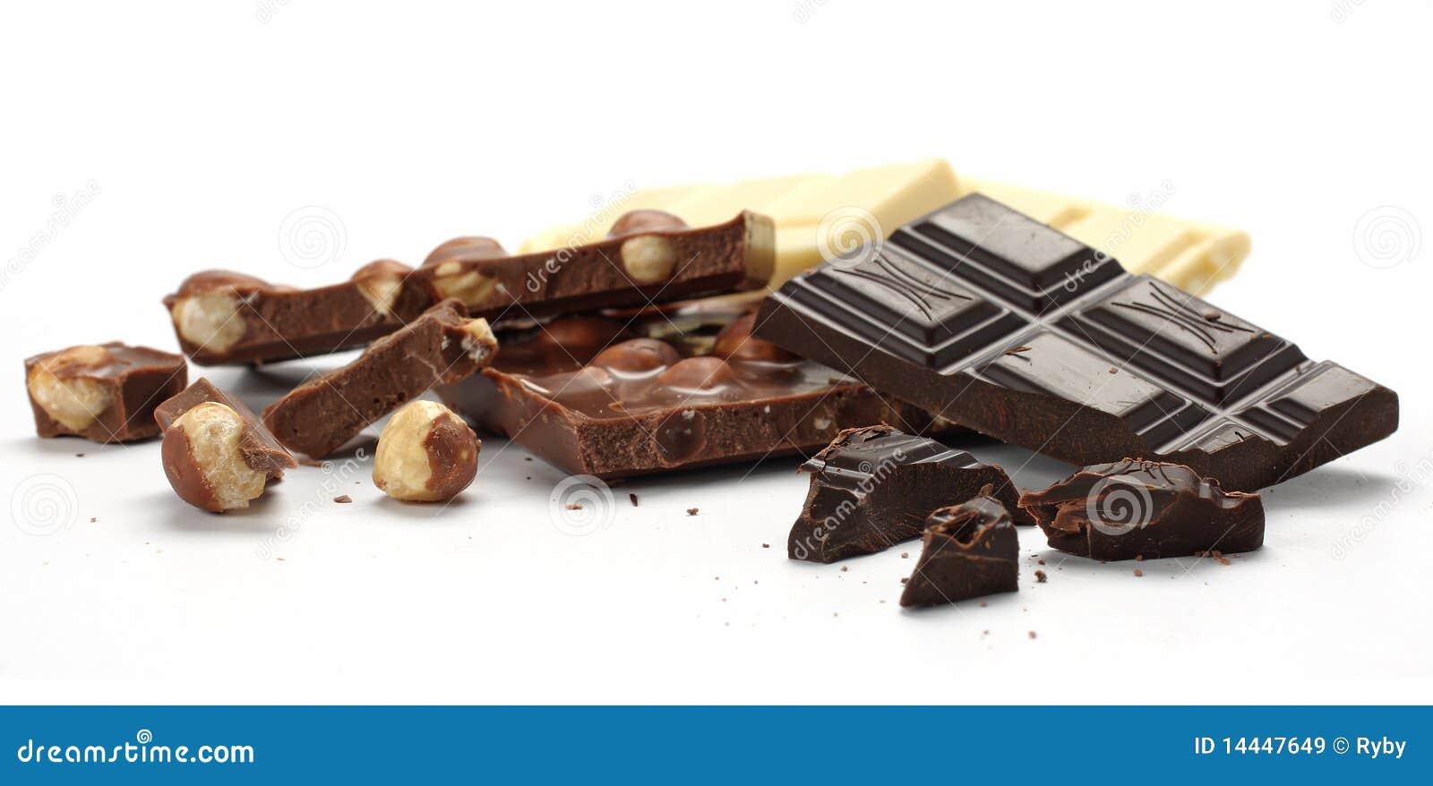 Accumulations de chocolat