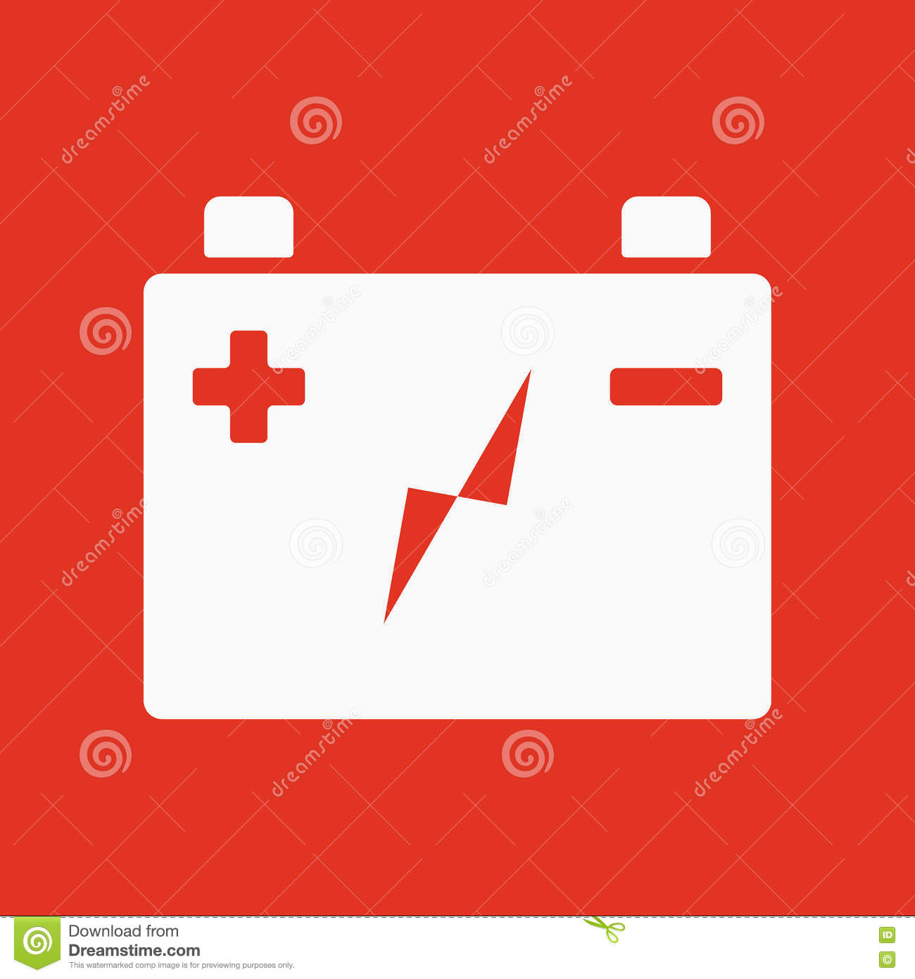 The Accumulator Battery Icon Power And Electric Energy