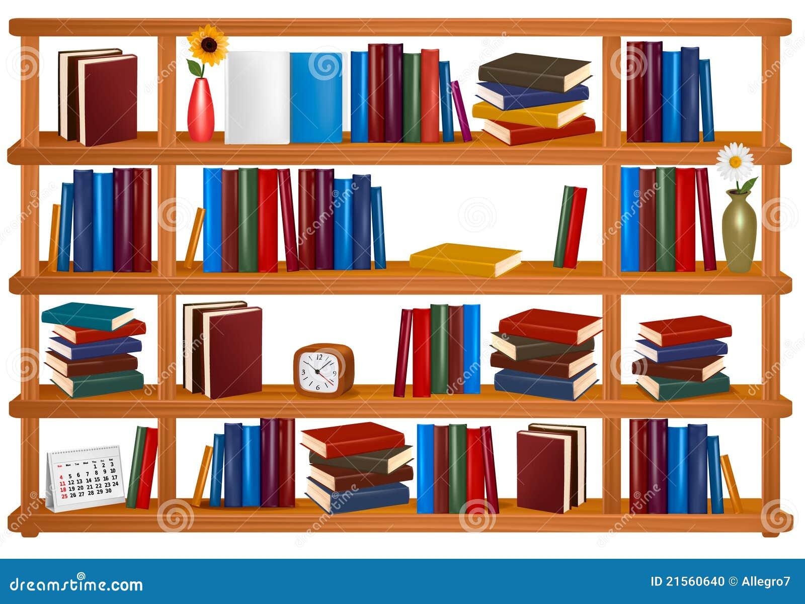 Accumulazione dei libri variopinti sugli scaffali per for Libri per fioristi