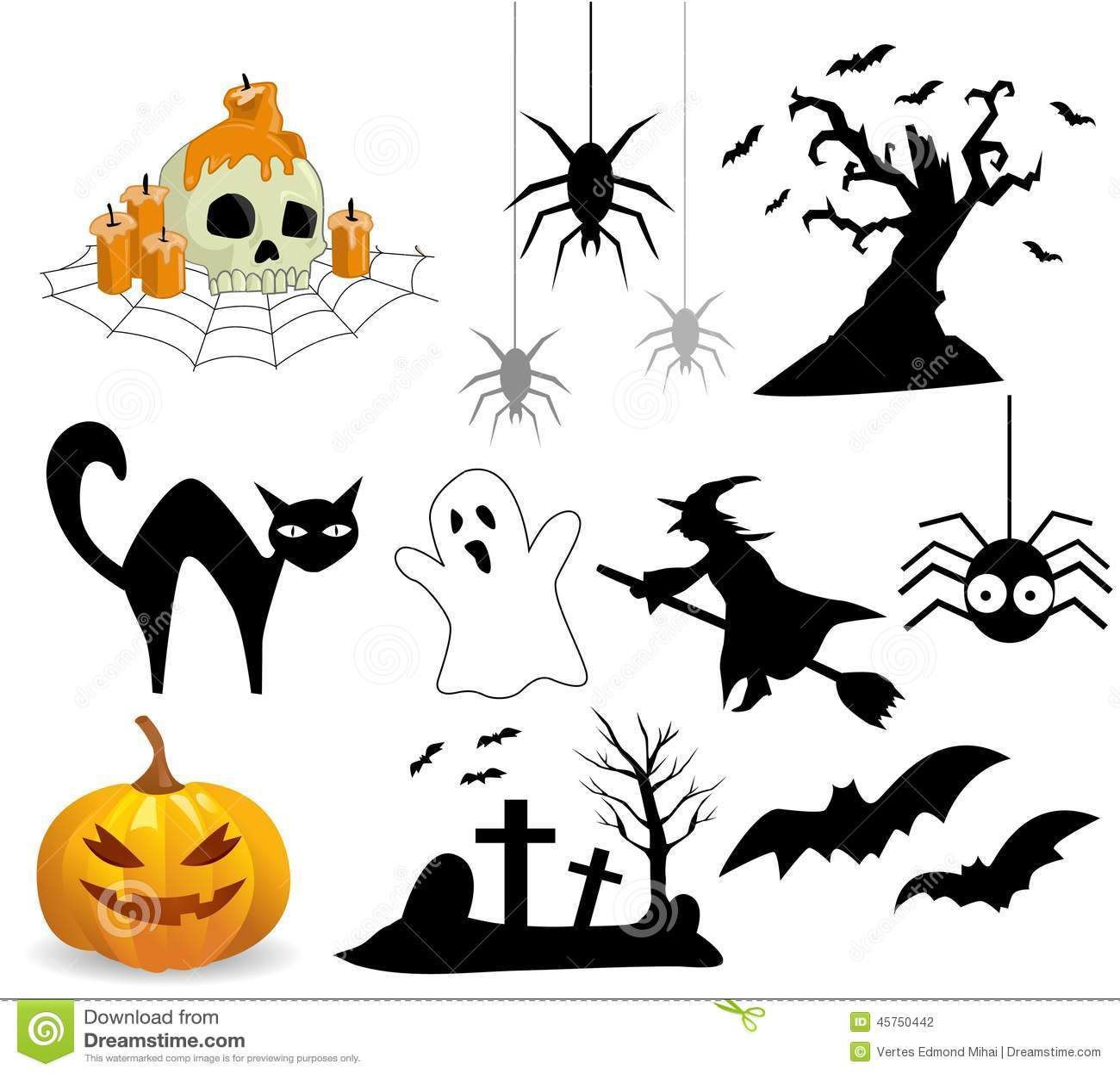 Accumulazione delle icone di Halloween