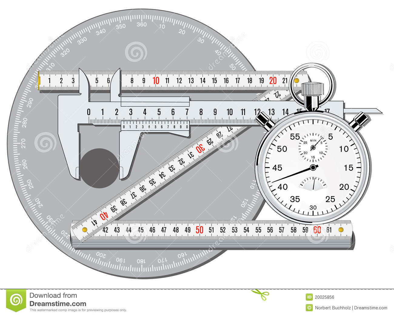 Accuracy calibrate stock vector. Illustration of calipers