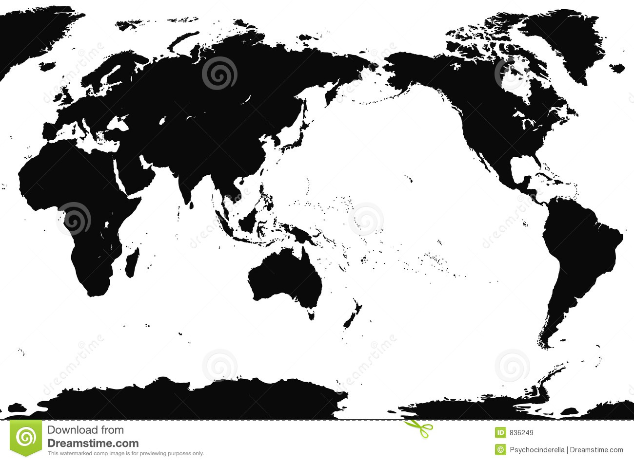 Accurate World Map Detailed Stock Vector Illustration Of