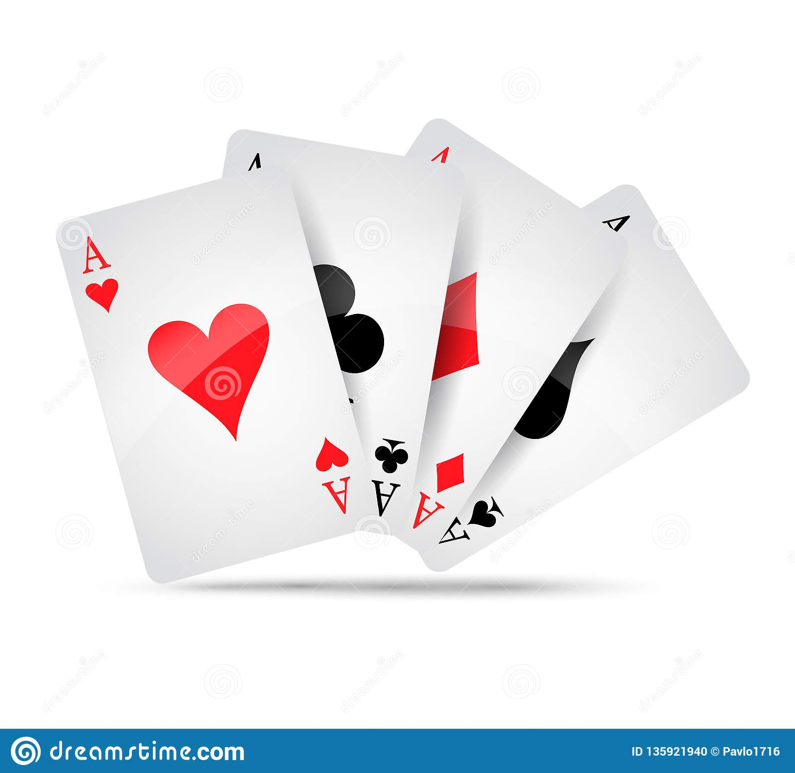 Ace card suit icon, playing cards symbols vector, set icon symbol suit, card suit icon sign, icon
