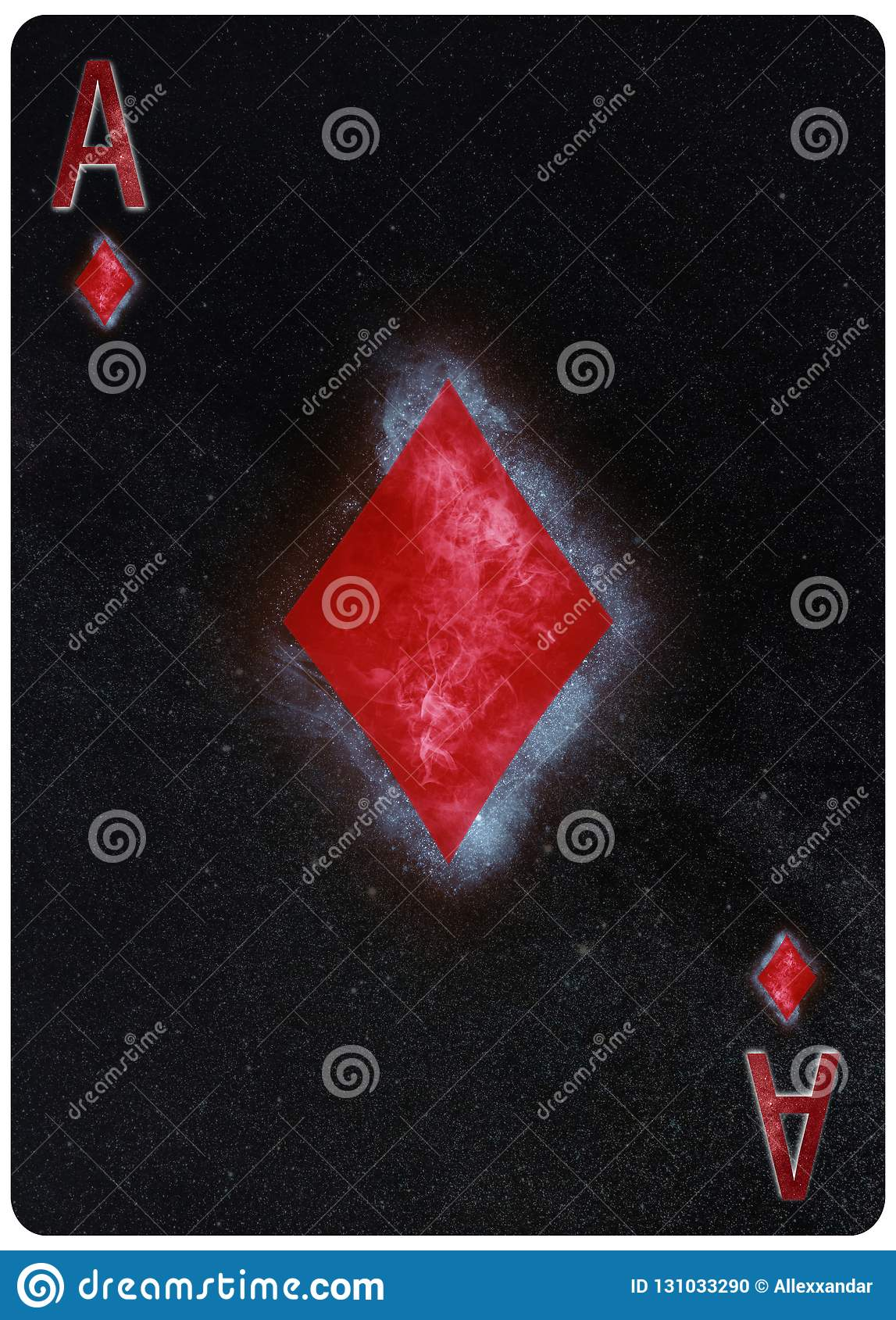 Ace Of Diamonds Playing Card Abstract Background Stock Photo