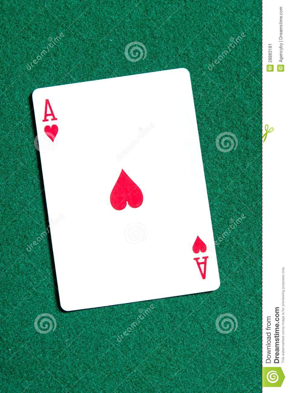 Royalty Free Stock Photo. Download Ace Of Hearts Playing Card On The Table  ...