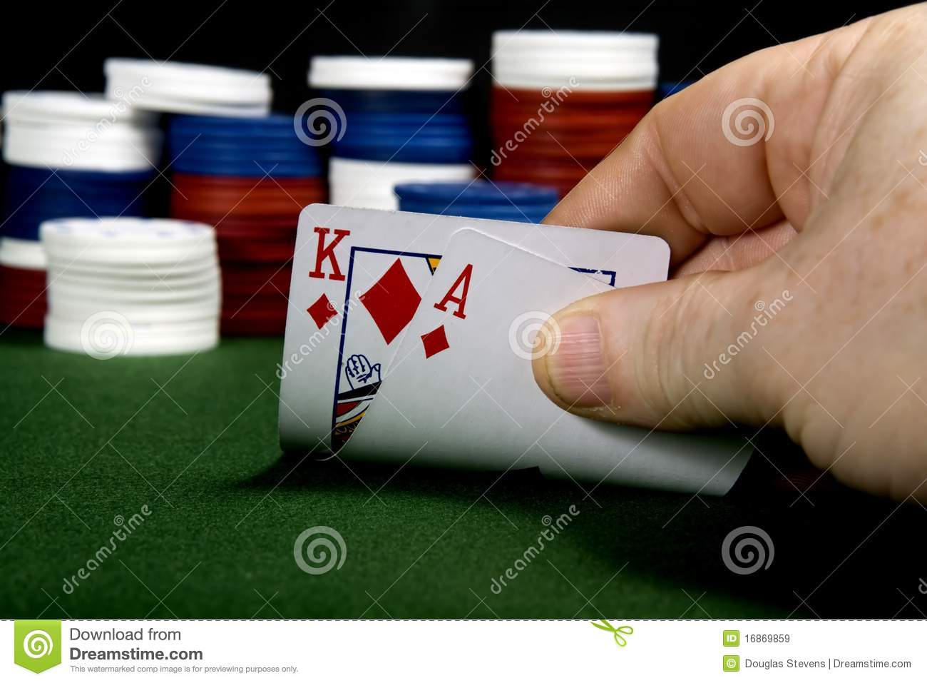 Poker straight king ace two