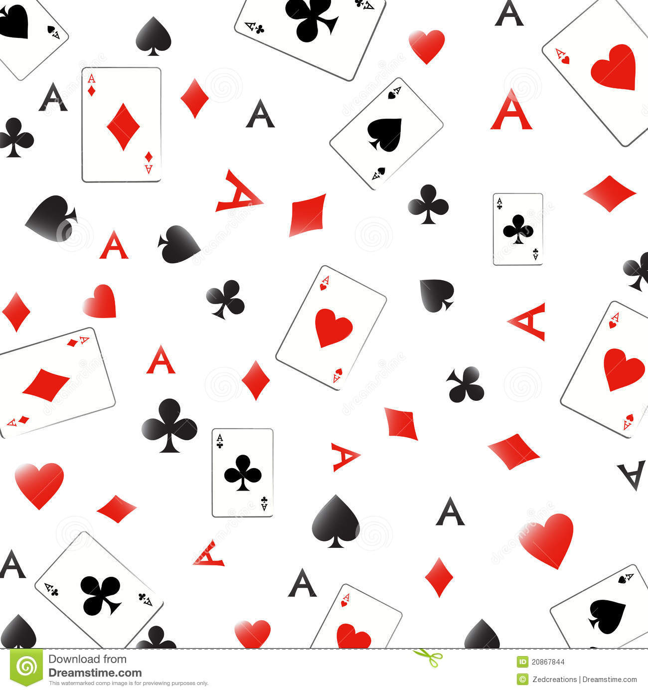 Ace Seamless Pattern Stock Images Image 20867844