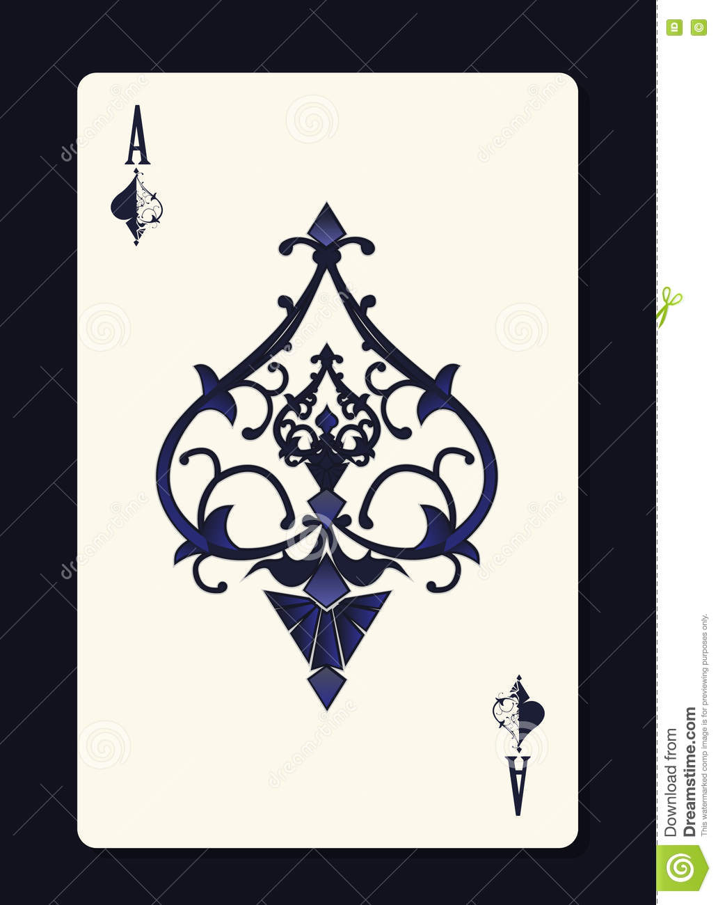 Ace of spades with forging curl pattern stock vector illustration ace of spades with forging curl pattern biocorpaavc Choice Image