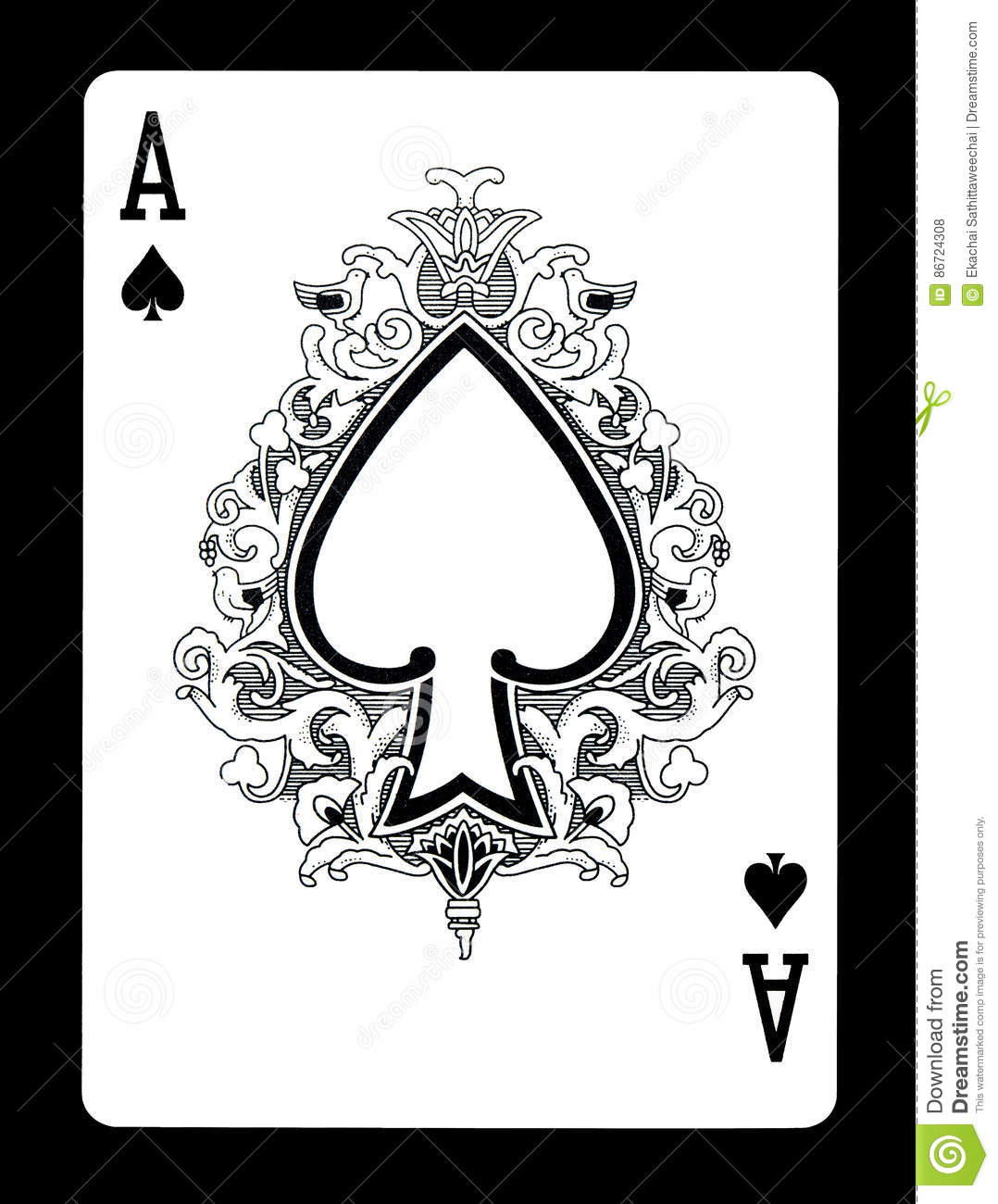 Ace Of Spades Playing Card Stock Photo Image Of Luck Leisure