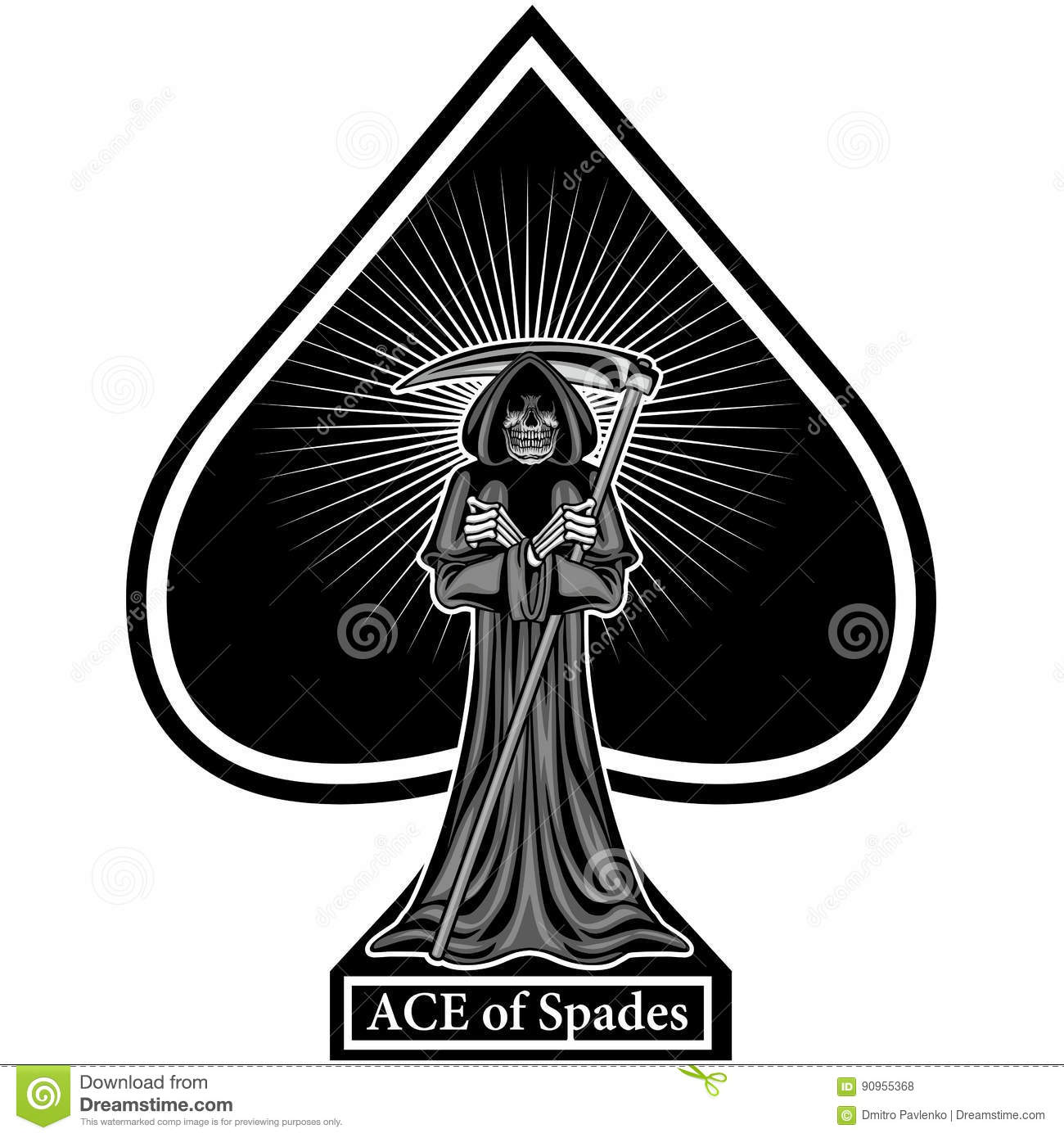 Ace of spades with skull stock illustration illustration of evil ace of spades with skull evil cross biocorpaavc Choice Image