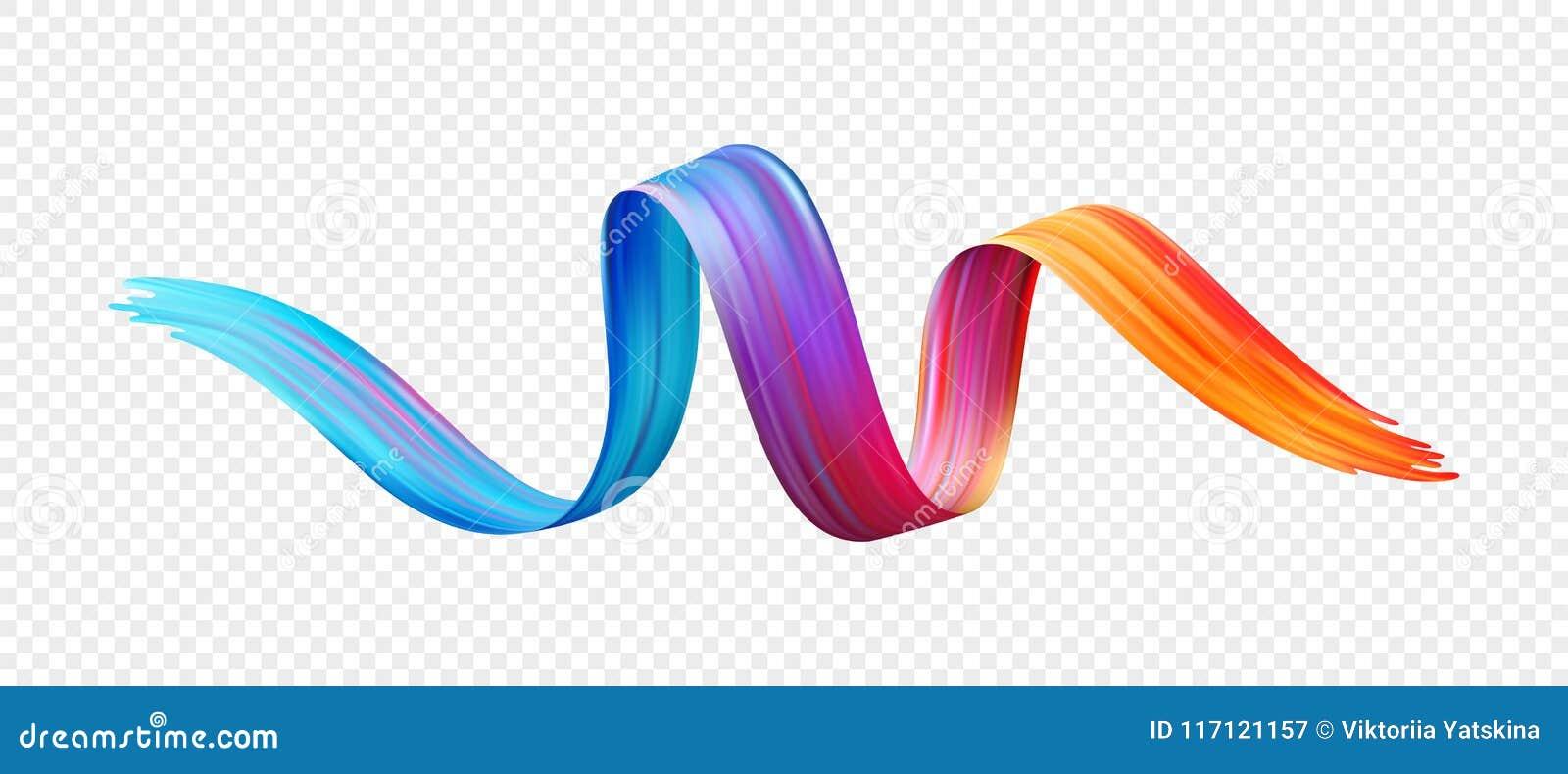 Aceite de la pincelada del color o elemento del diseño de la pintura acrílica Ilustración del vector