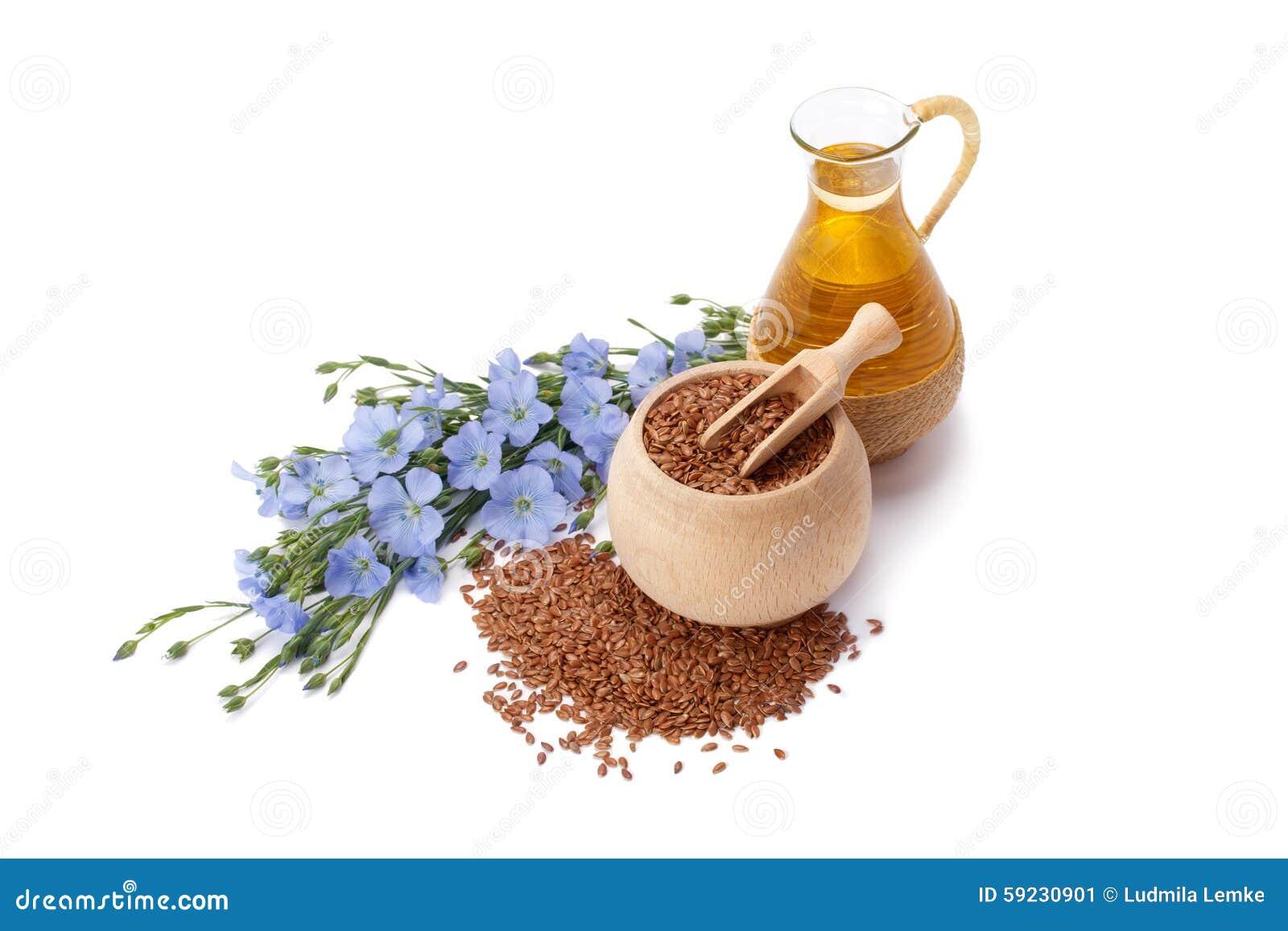 Download Aceite De Linaza Con Las Semillas De Lino Imagen de archivo - Imagen de dieta, alimento: 59230901