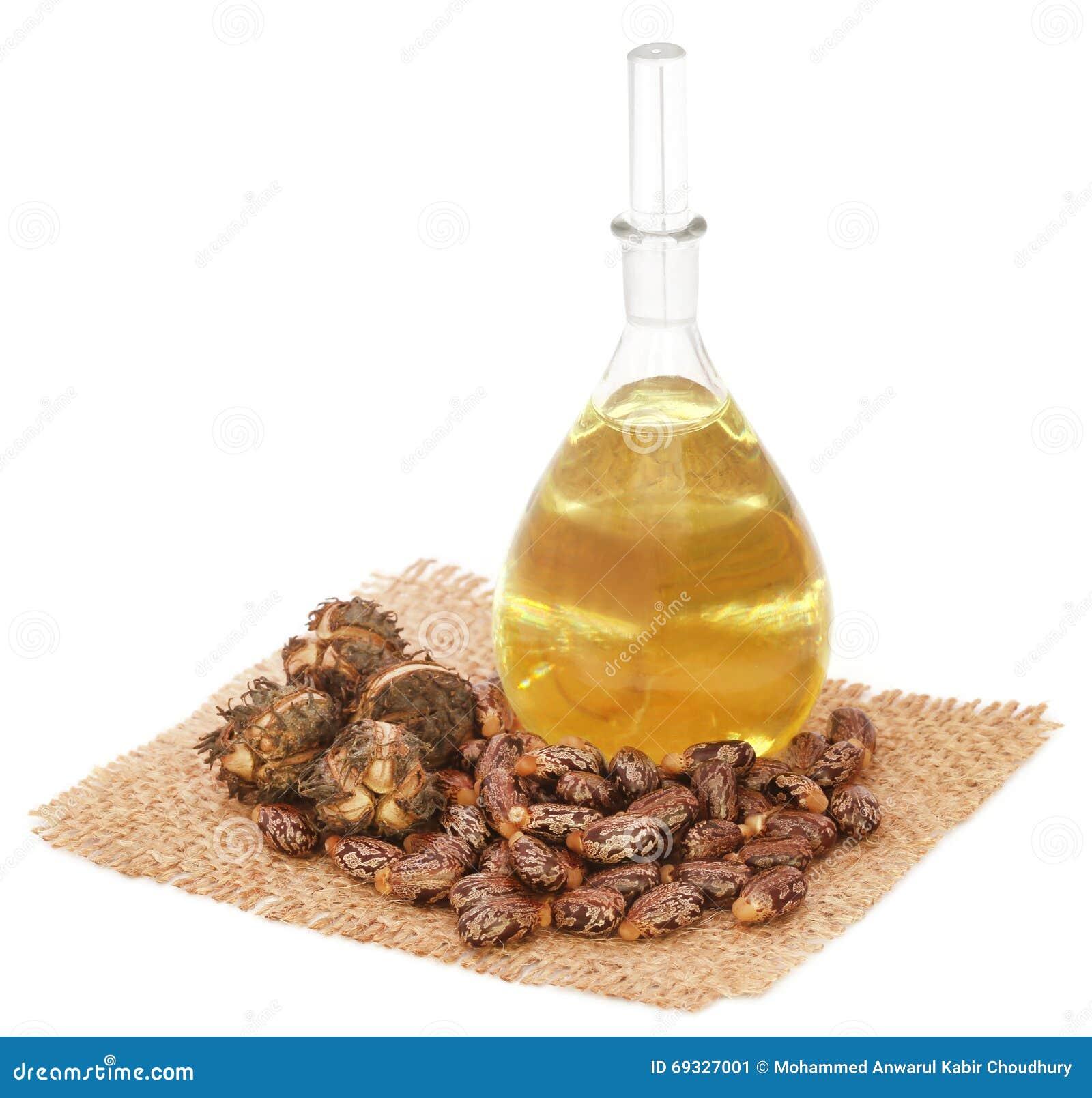 Aceite de ricino con las habas