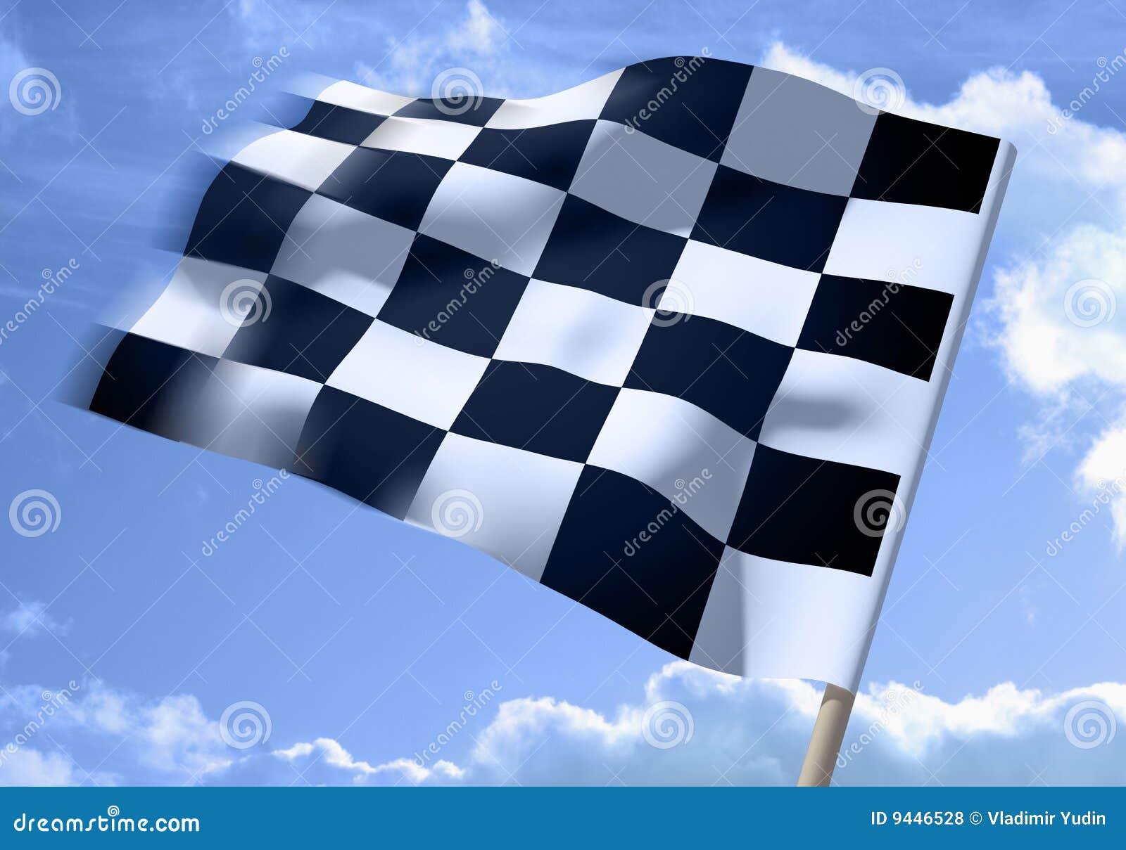 Acenando uma bandeira checkered